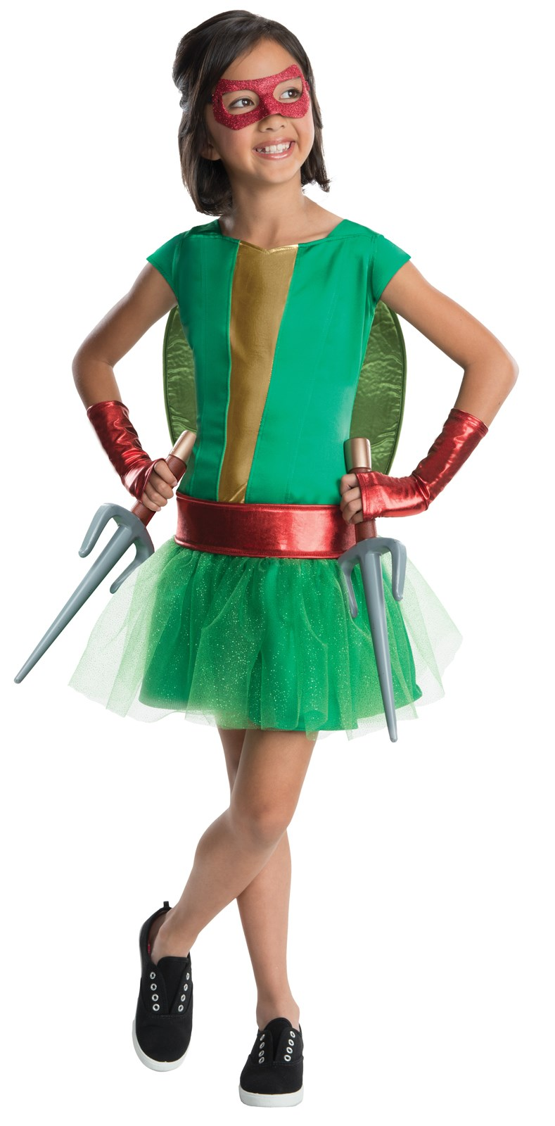 TMNT - Deluxe Raphael Girl Tutu Costume Medium (8-10)