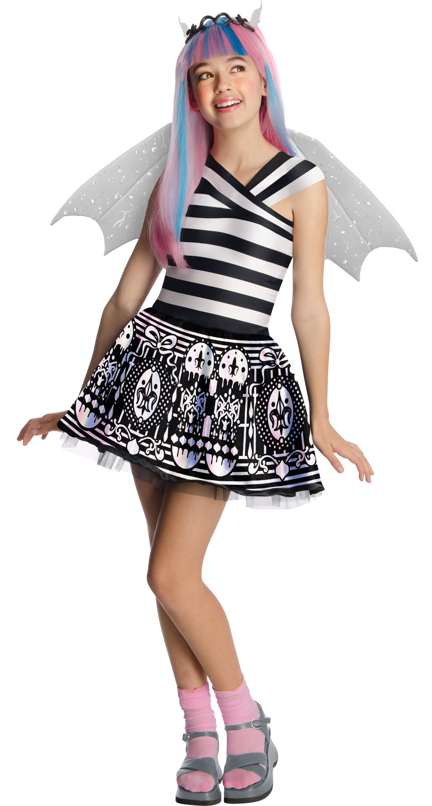 Monster High Rochelle Goyle Kids Costume Medium (8/10)