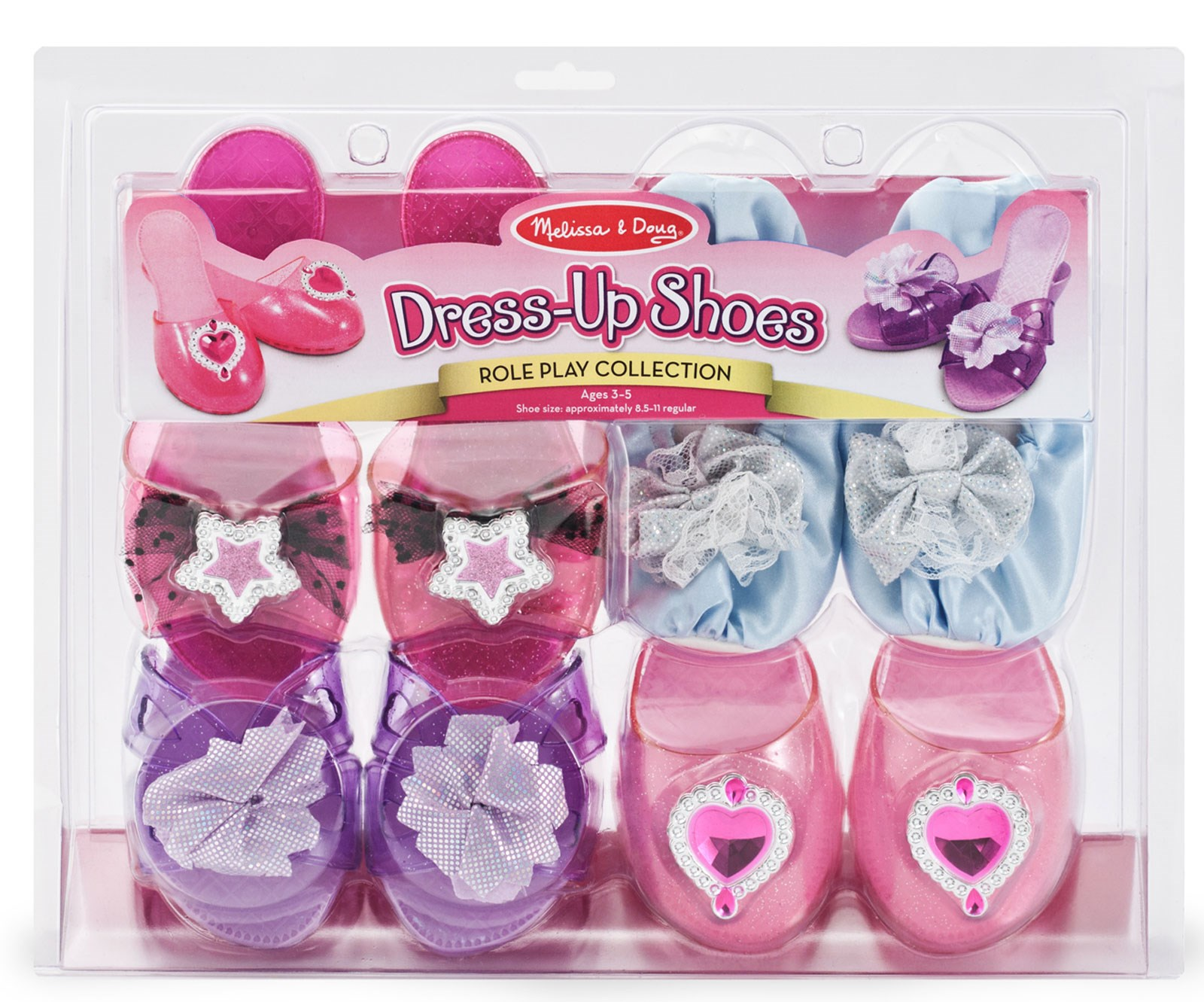 Melissa Doug Dress-Up Shoes (4) One-Size (3-5 years)