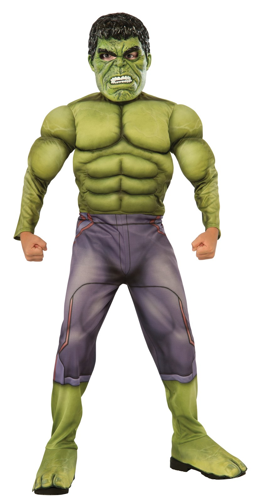 Avengers 2 - Age of Ultron: Deluxe Hulk Costume For Kids Small (4-6)
