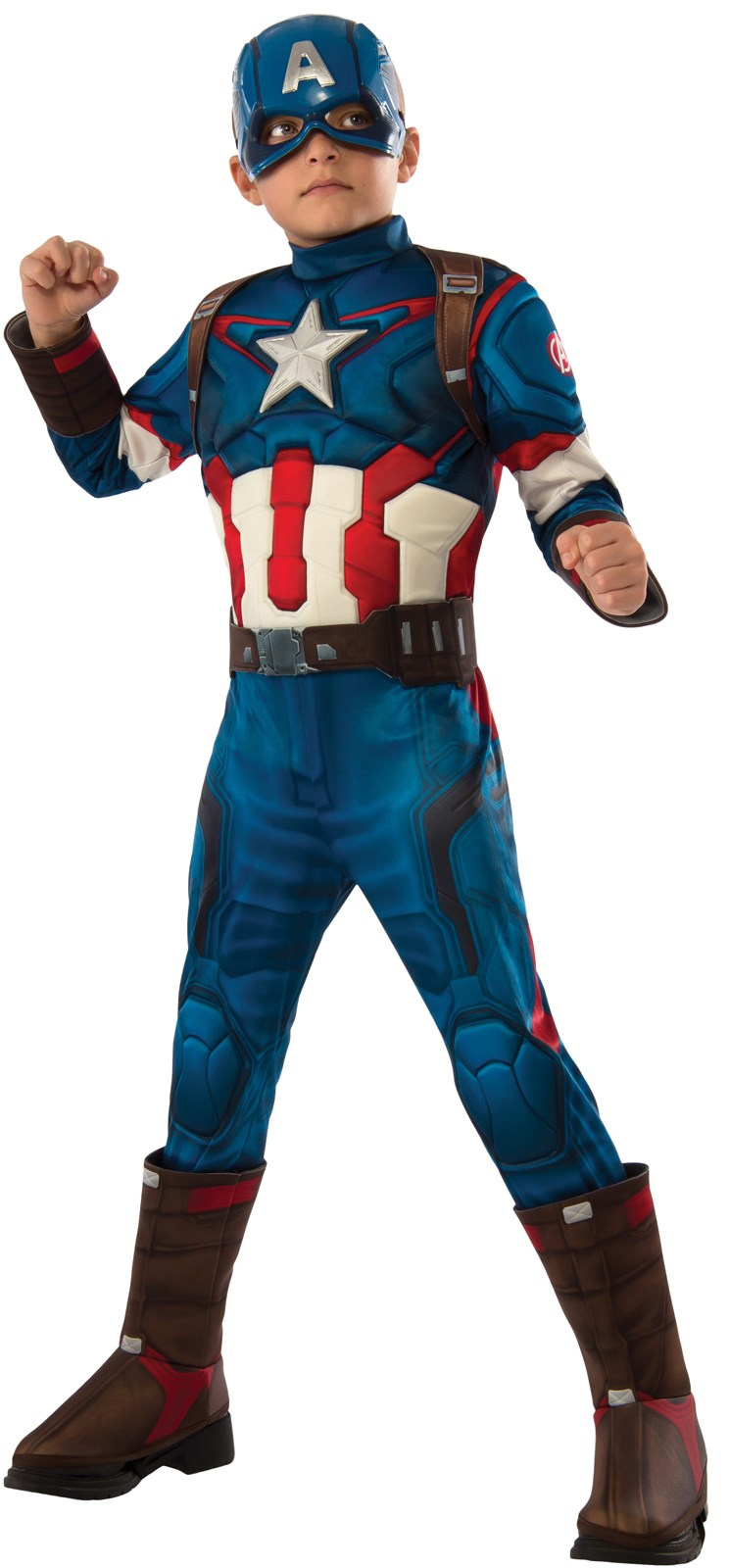 Avengers 2 - Age of Ultron: Deluxe Captain America Kids Costume Small (4-6)