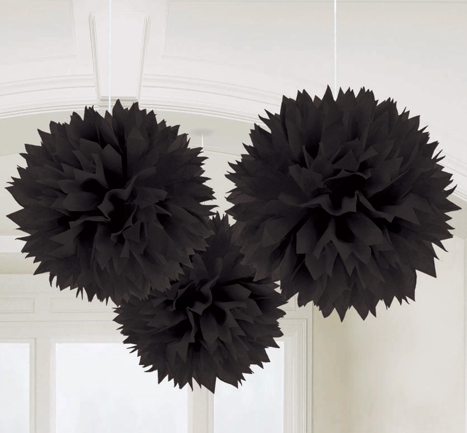 Black Fluffy Decorations (3)