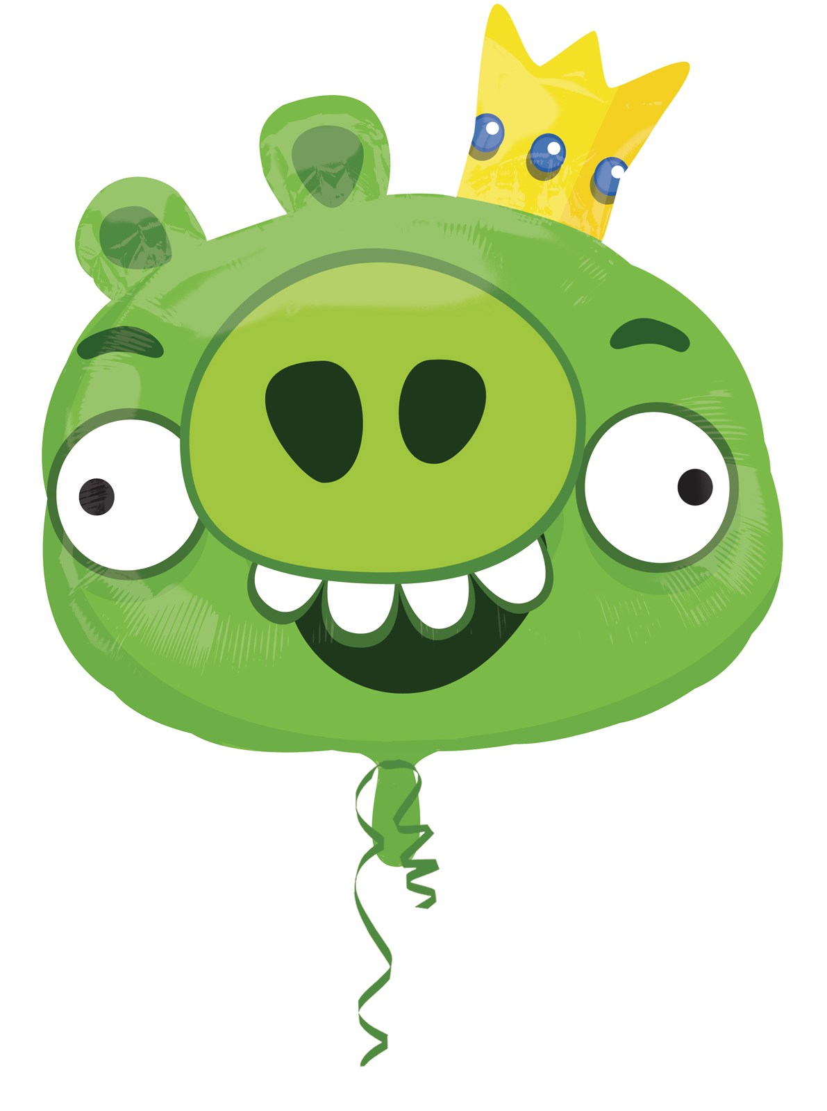 Image of Angry Birds Green Pig Foil Balloon