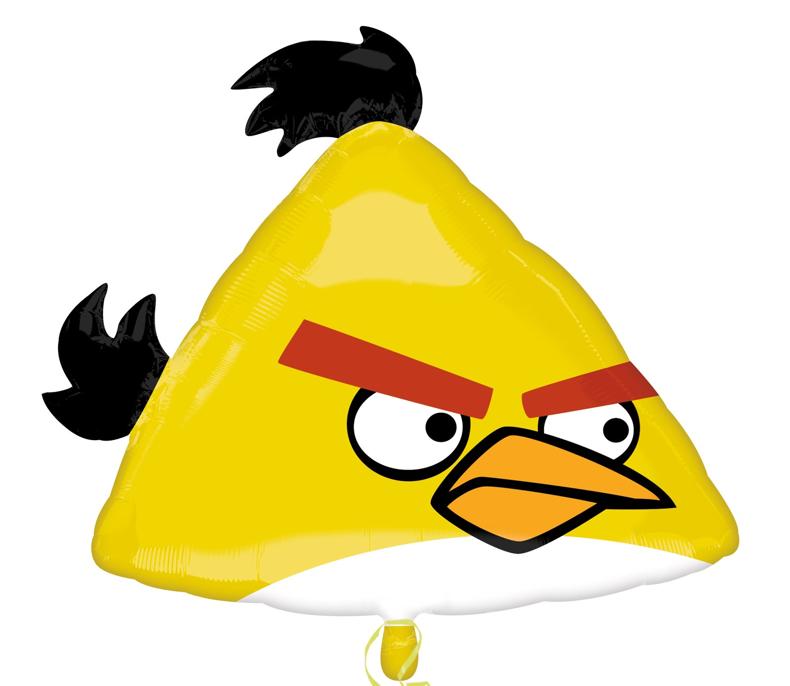 Image of Angry Birds Yellow Bird Shaped Foil Balloon