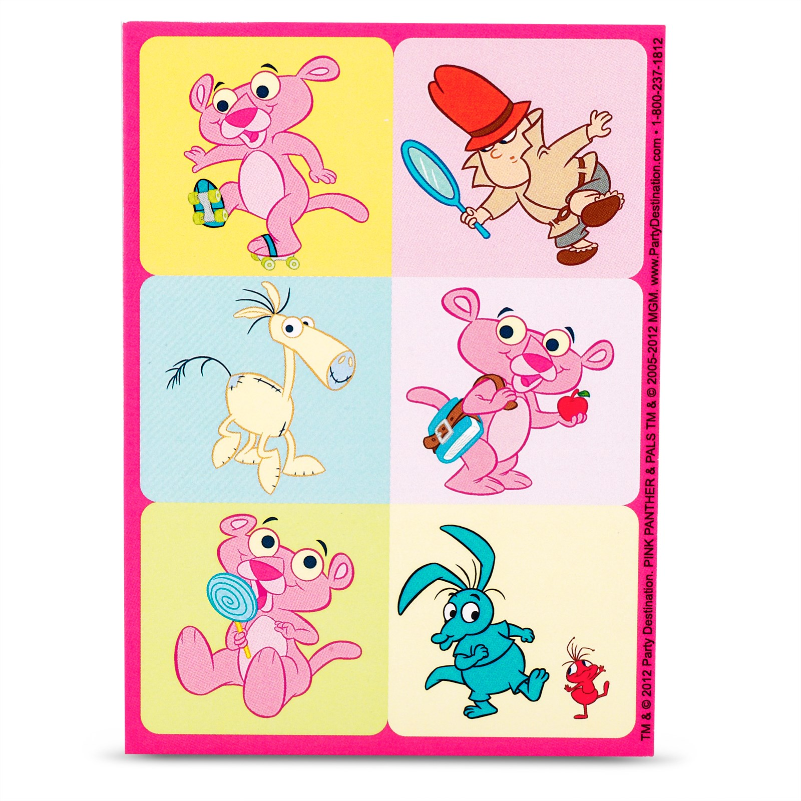 Baby Pink Panther Stickers