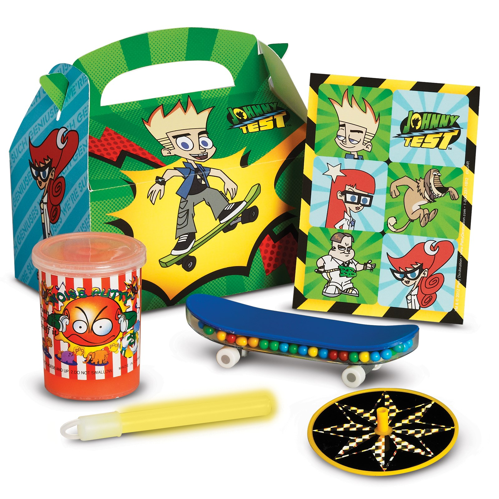 Johnny Test Filled Party Favor Box