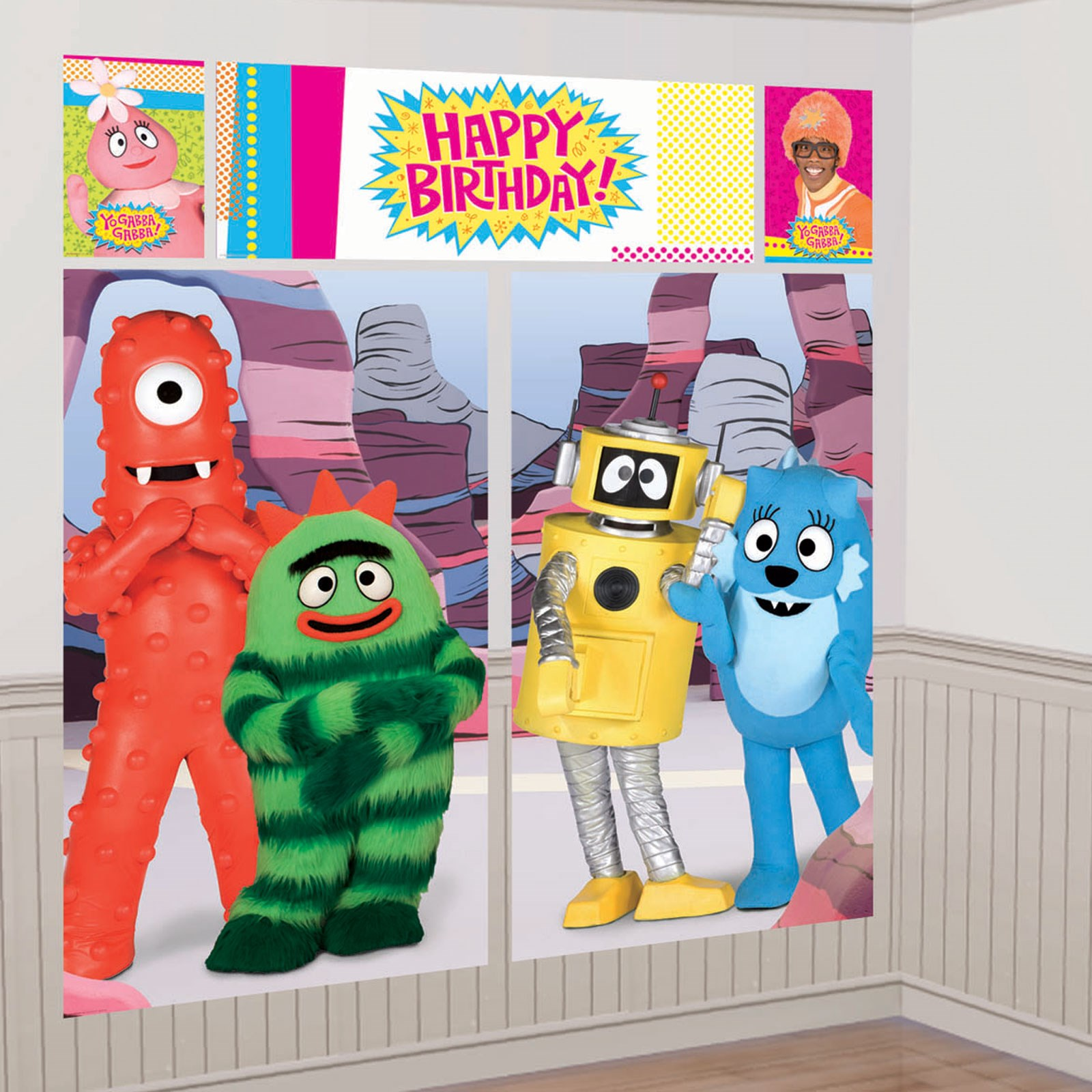 Yo Gabba Gabba Scene Setter Decoration Set