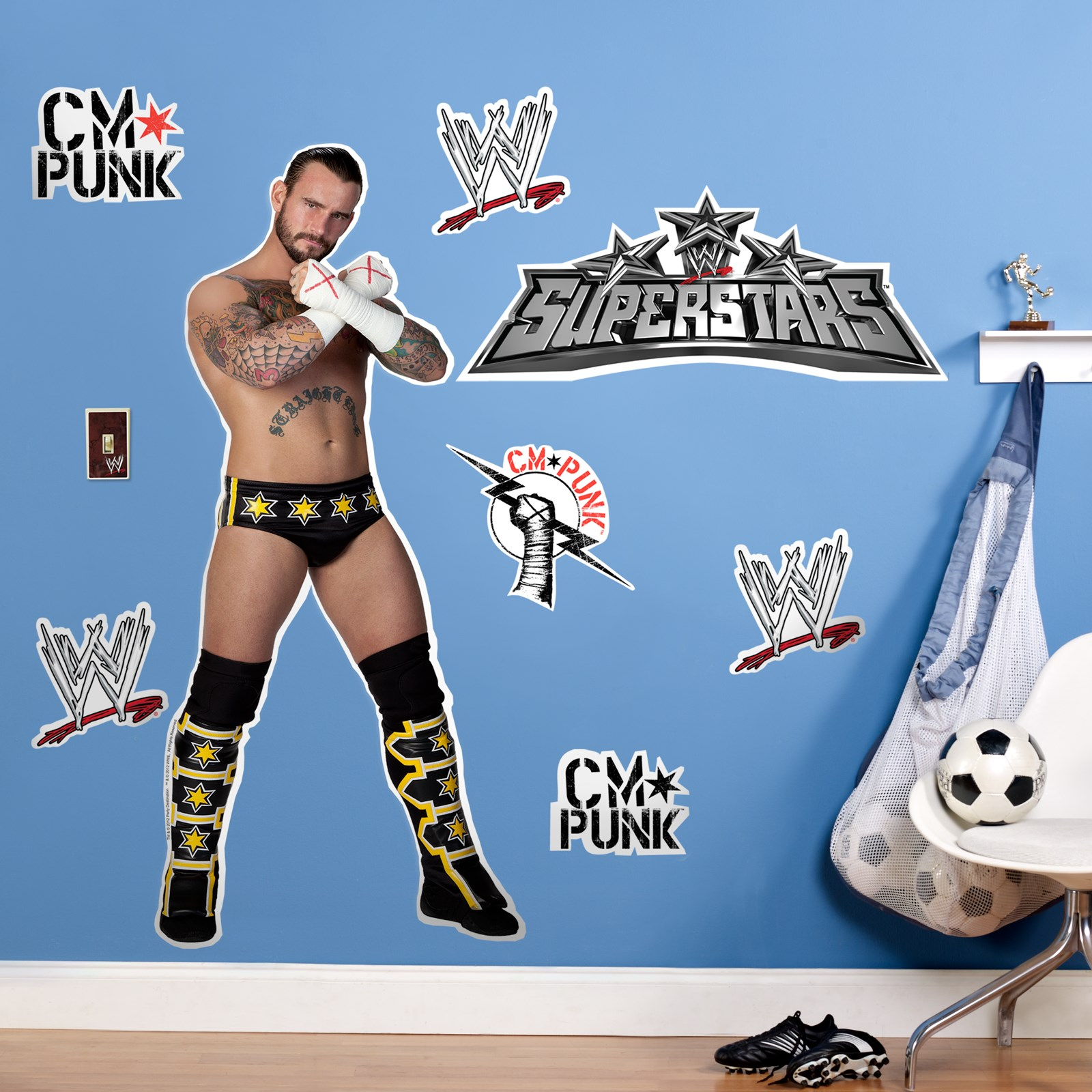 WWE CM Punk Giant Wall Decals