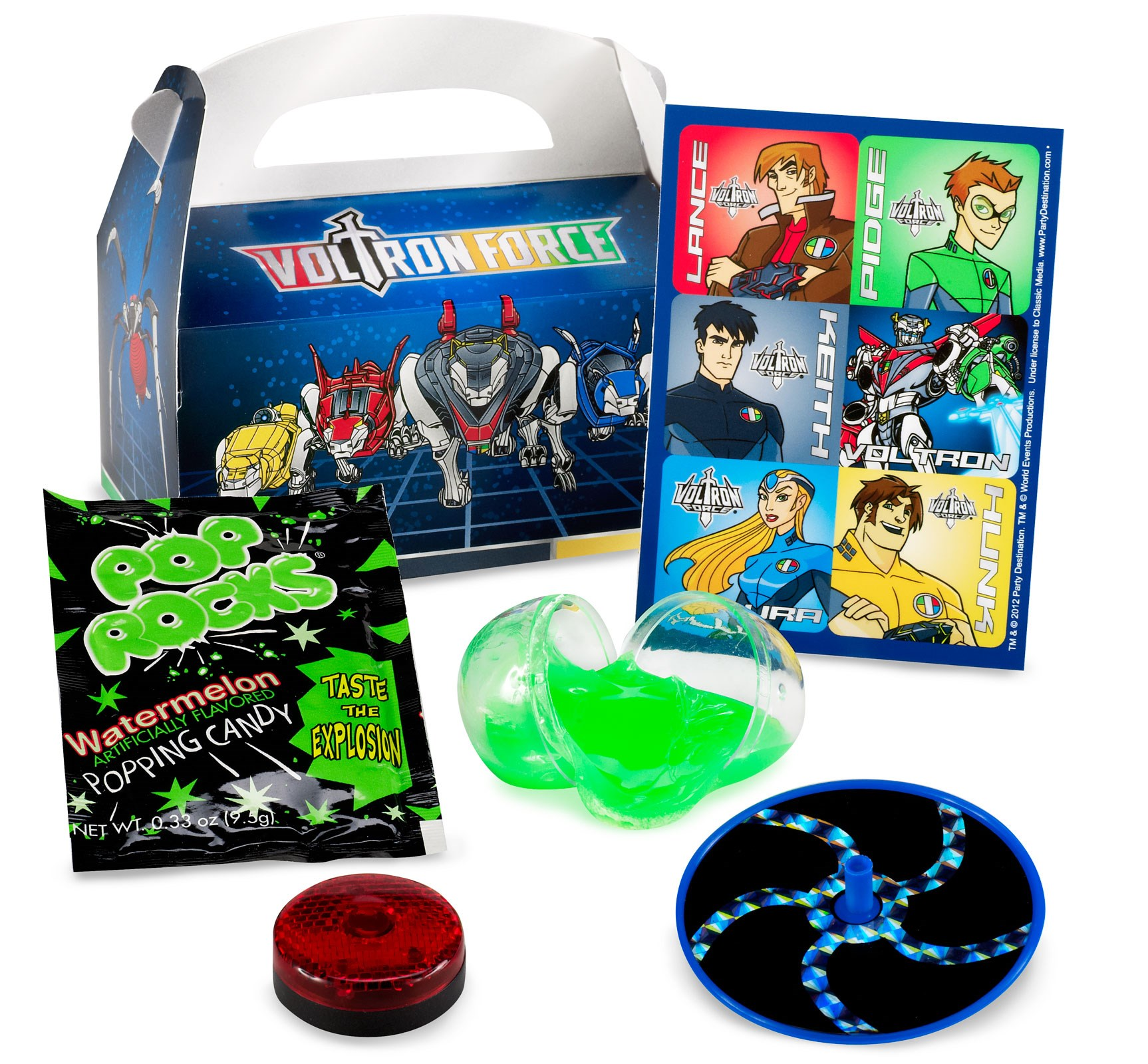Voltron Force Filled Party Favor Box