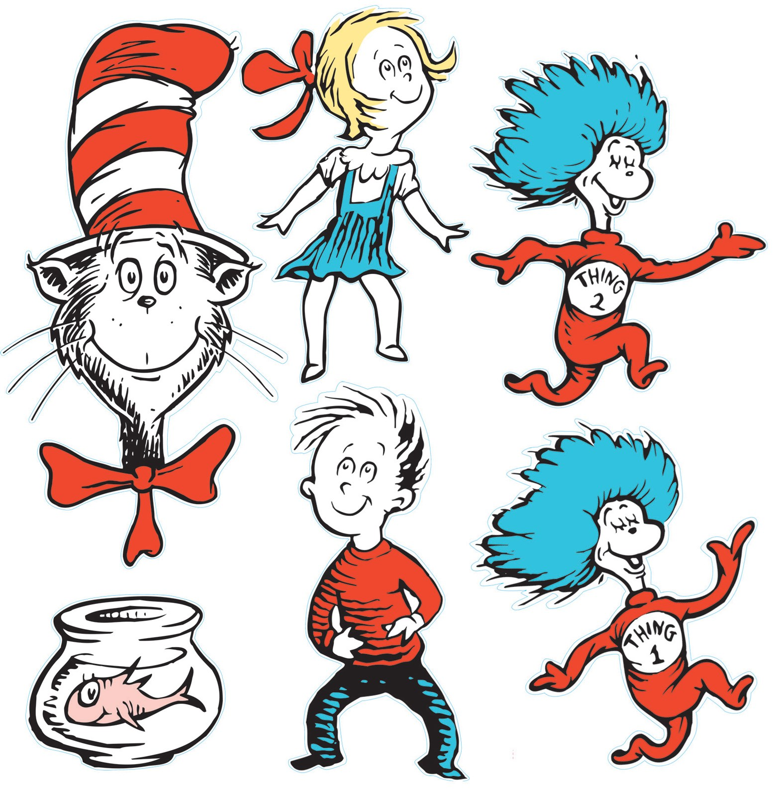 Dr. Seuss Cat in the Hat Giant Characters Decorating Kit