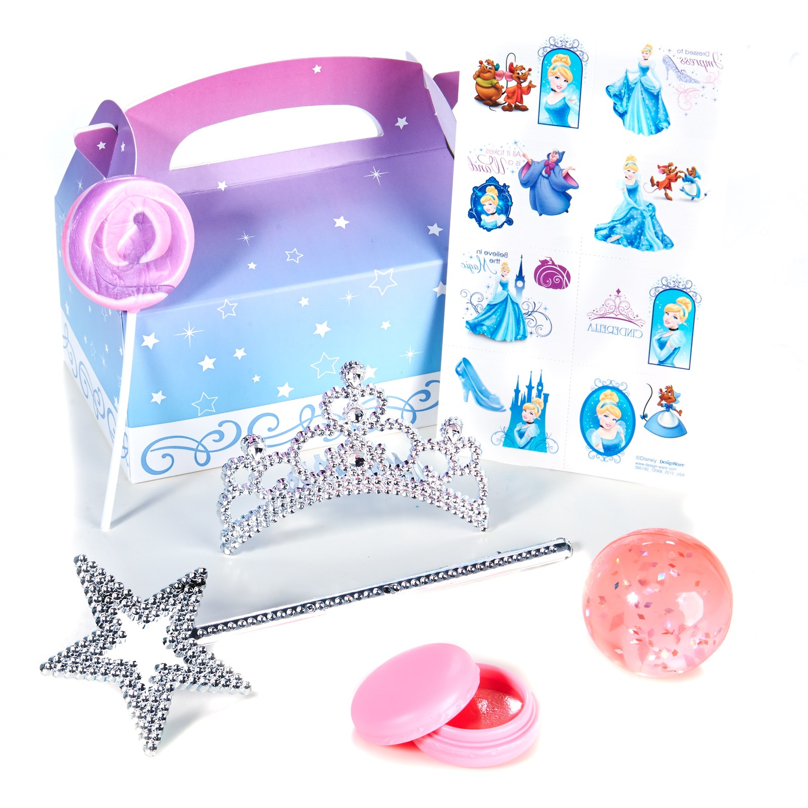 Disney Cinderella Sparkle Filled Party Favor Box
