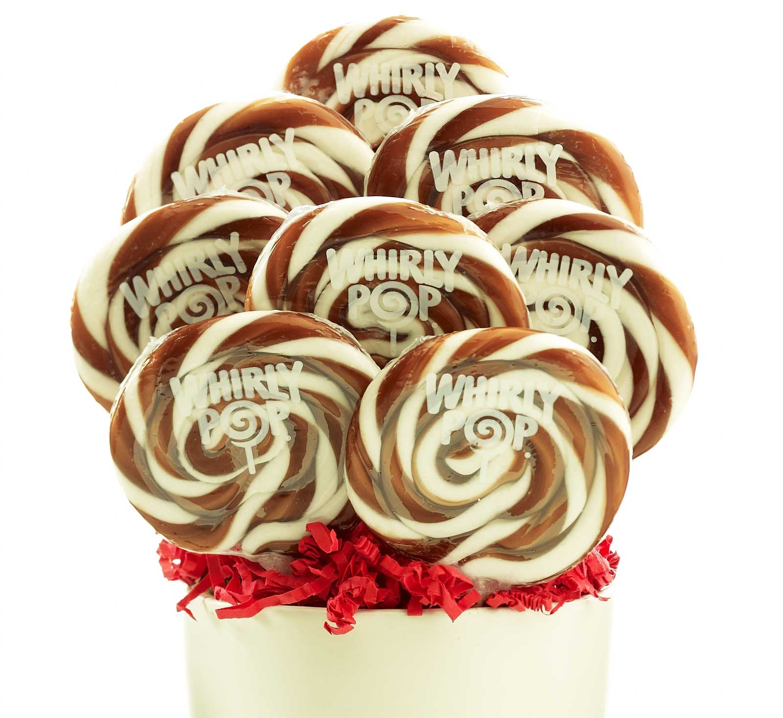 Image of Brown and White Whirly Pops