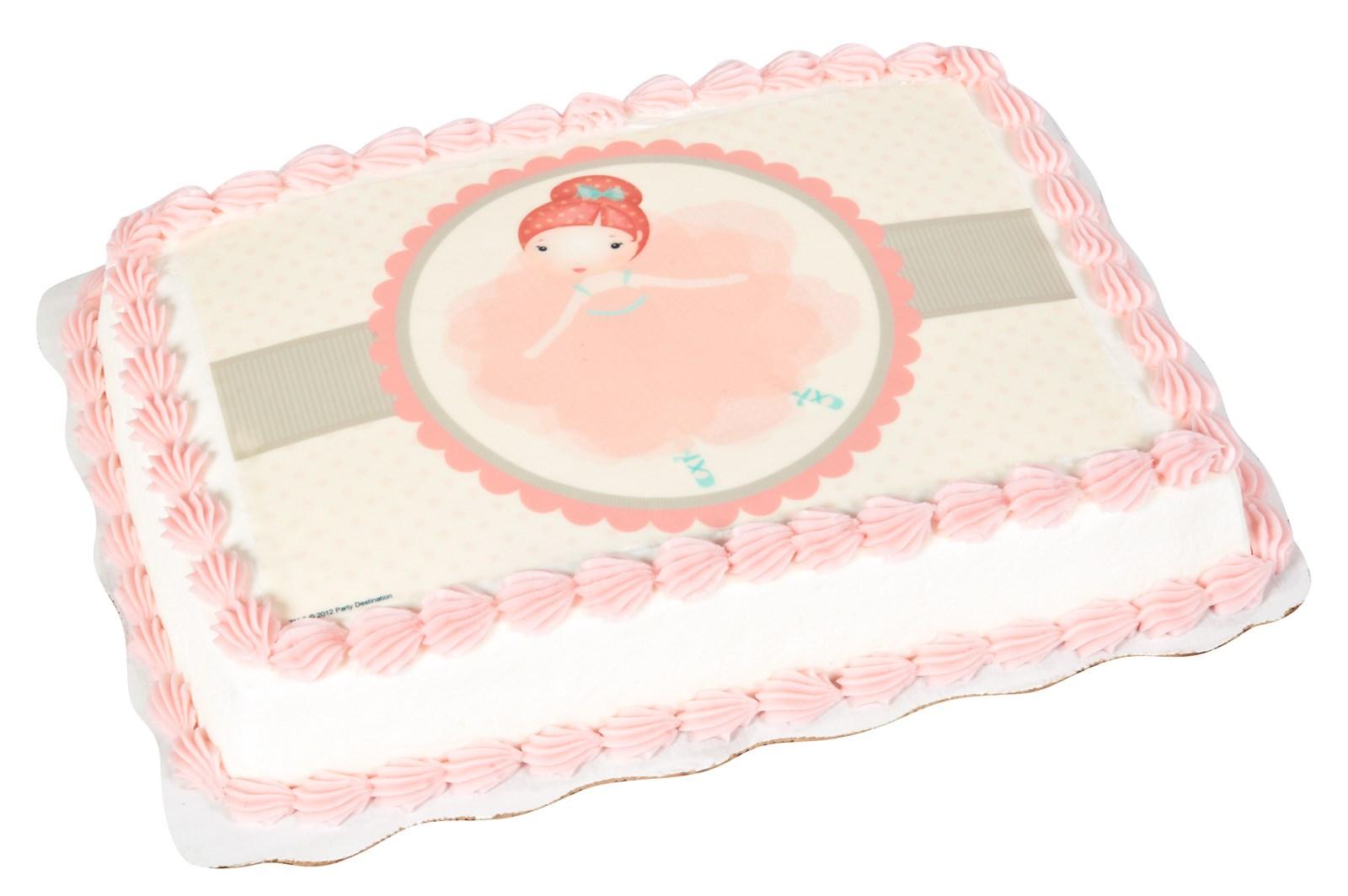 Image of Ballerina Edible Icing Cake Topper