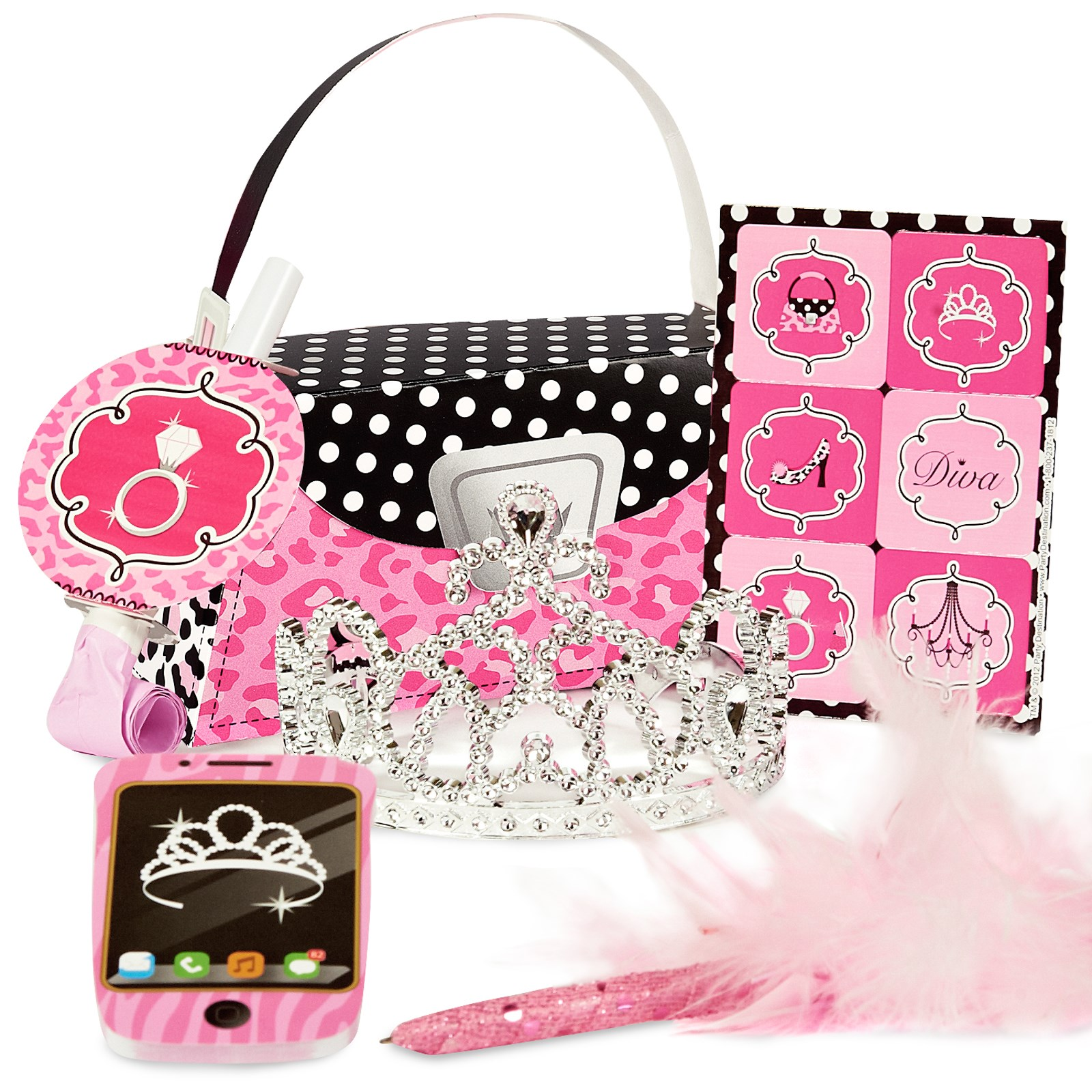 Diva Zebra Print Filled Party Favor Box