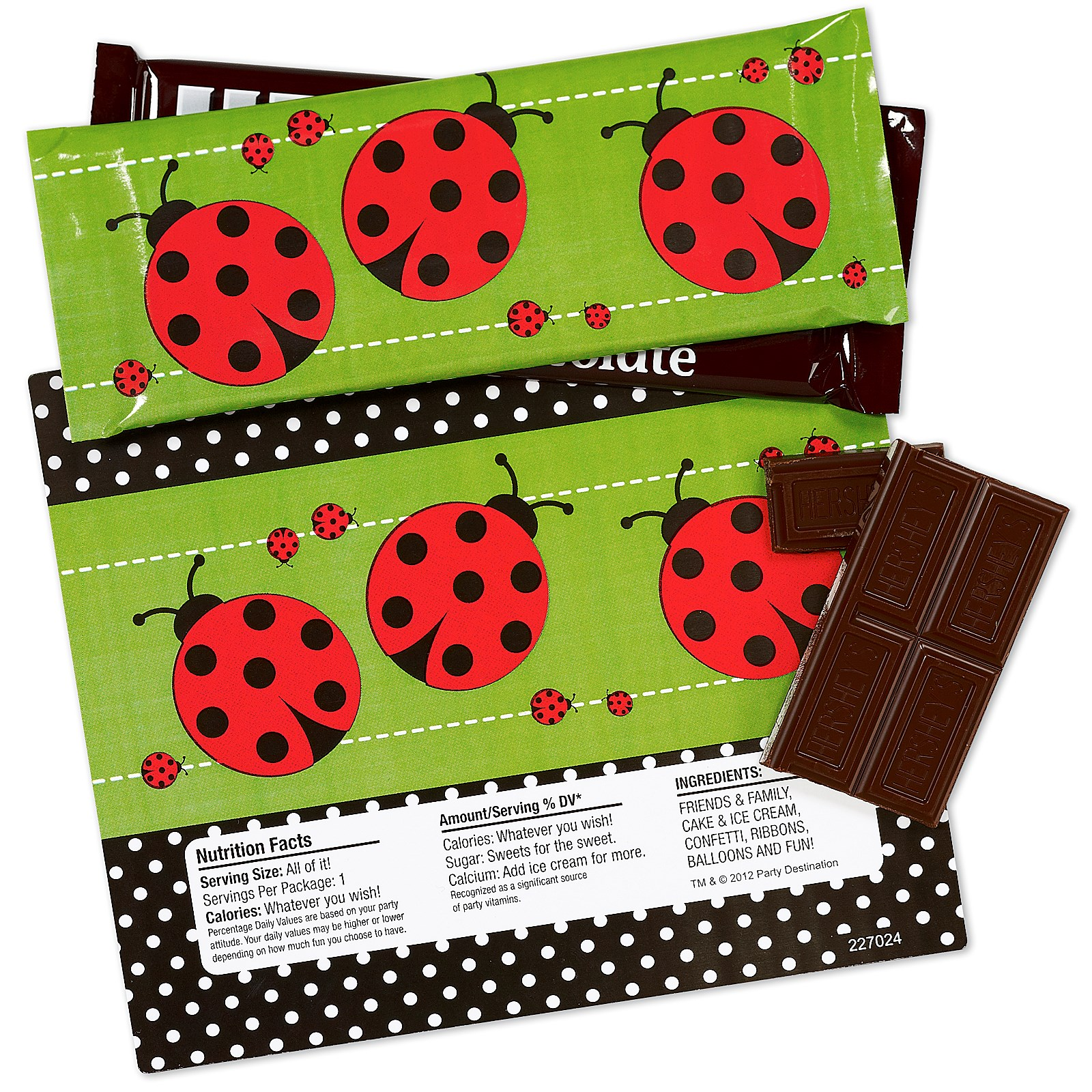 Ladybug Large Candy Bar Wrappers