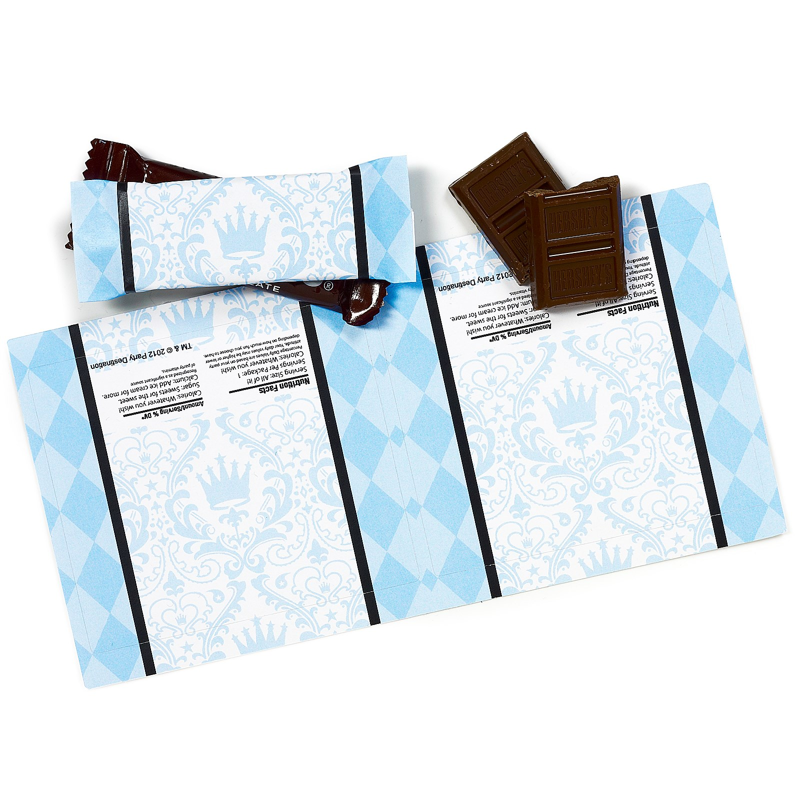 Elegant Prince Damask Small Candy Bar Wrappers