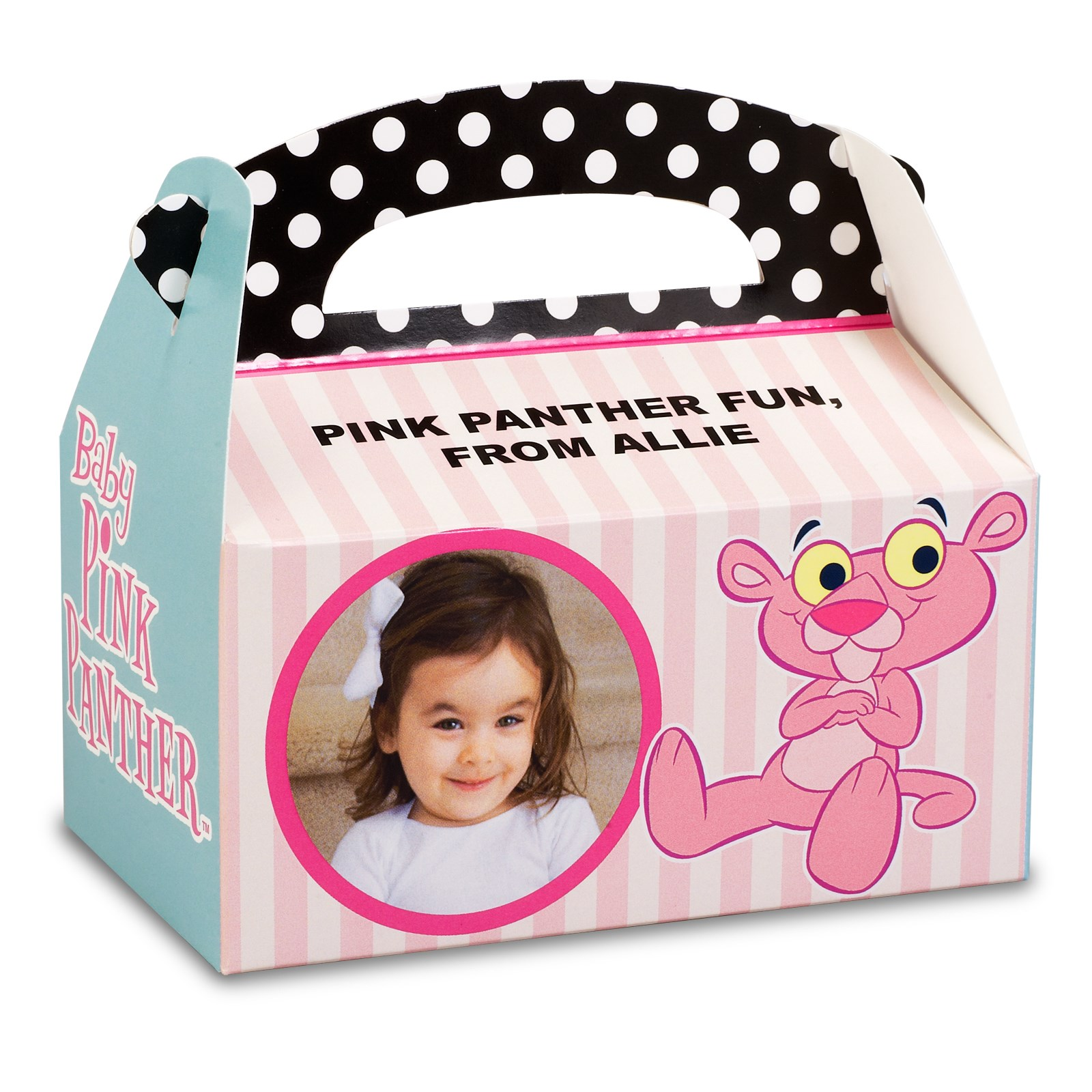 Image of Baby Pink Panther Personalized Empty Favor Boxes