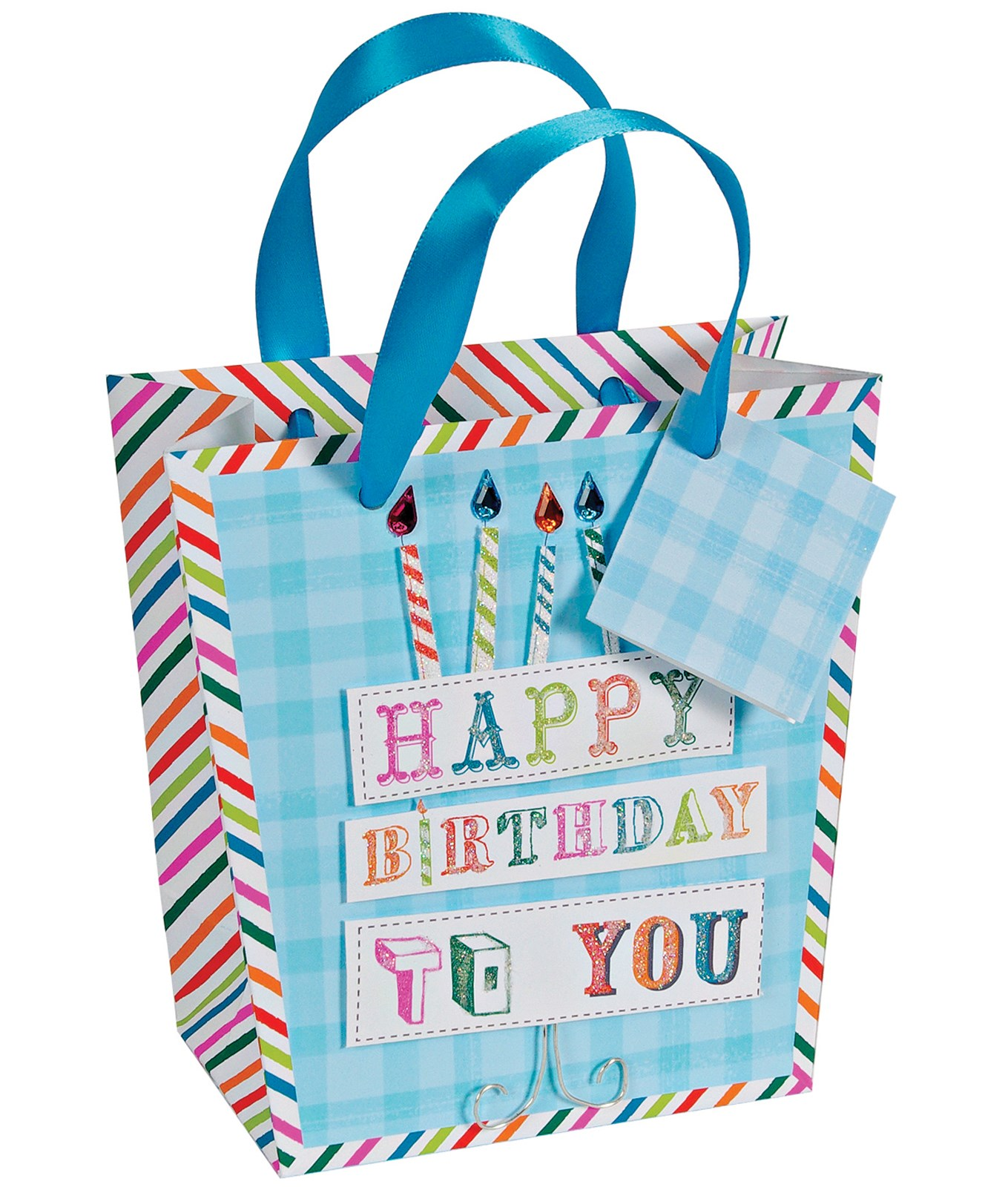 Image of Birthday Candles Small Gift Bag