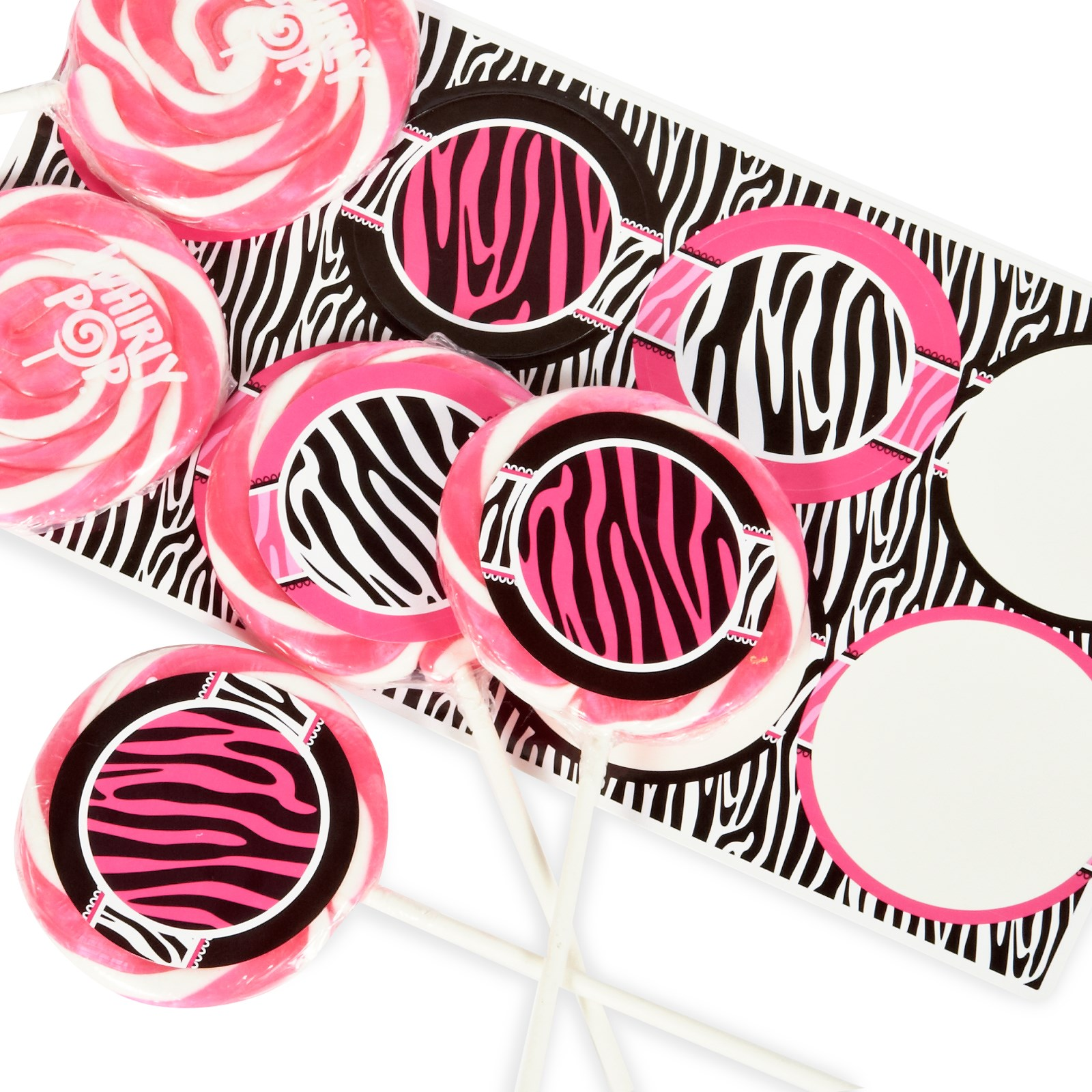 Diva Zebra Print Deluxe Lollipop Favor Kit