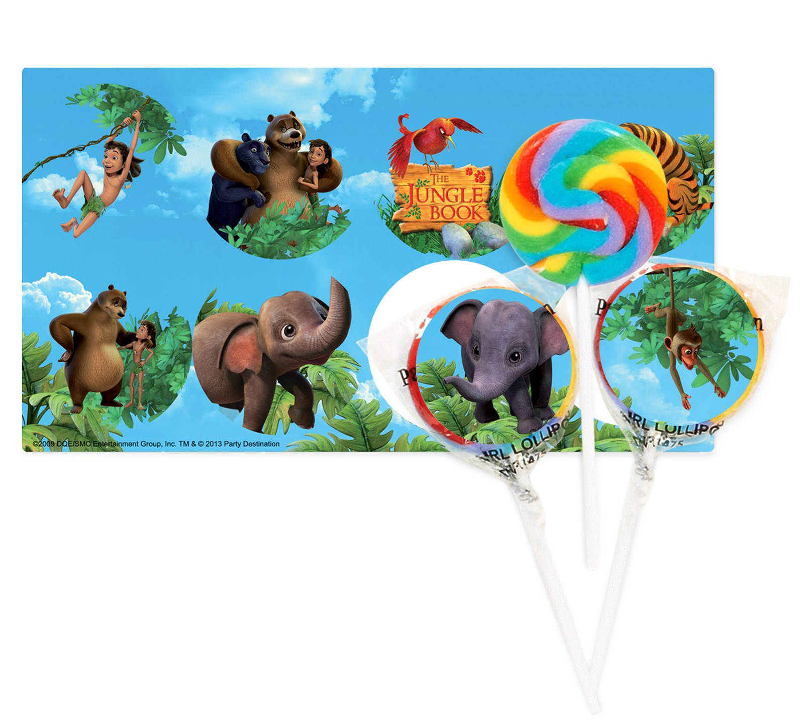 The Jungle Book Lollipop Favor Kit