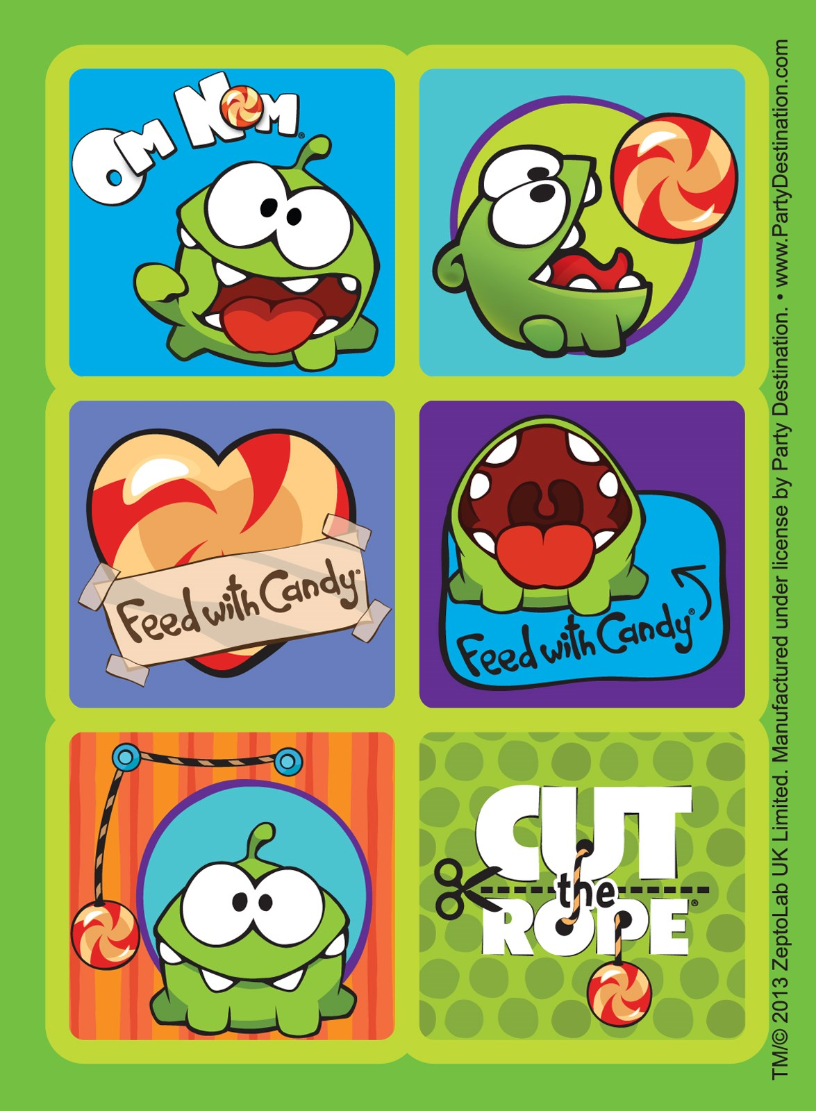 Cut the Rope Sticker Sheets