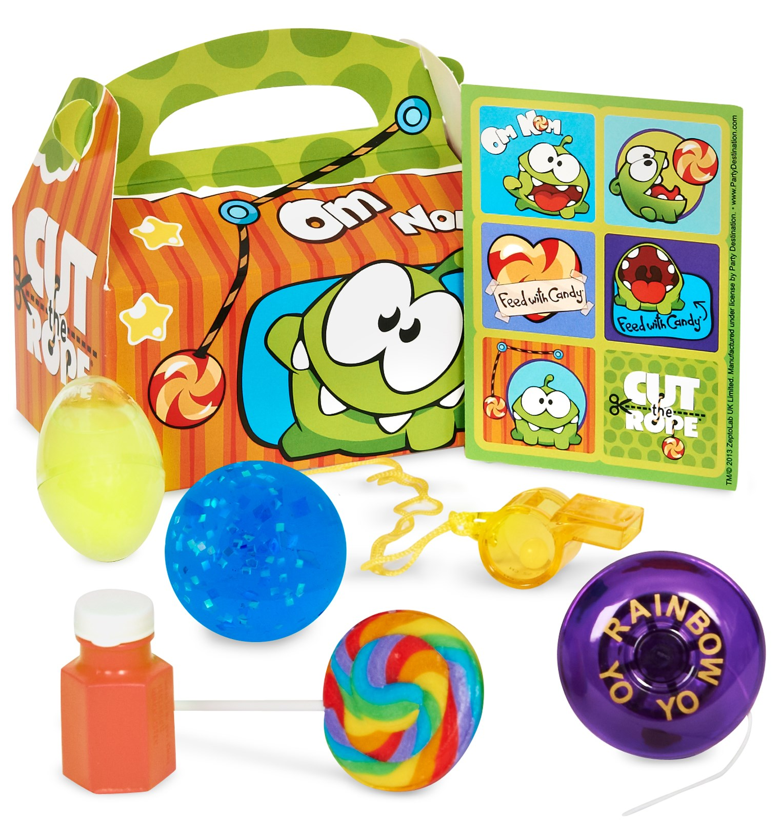 Image of Cut the Rope Party Favor Box