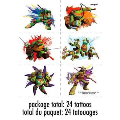 Image of Nickelodeon Teenage Mutant Ninja Turtles Tattoo Sheets