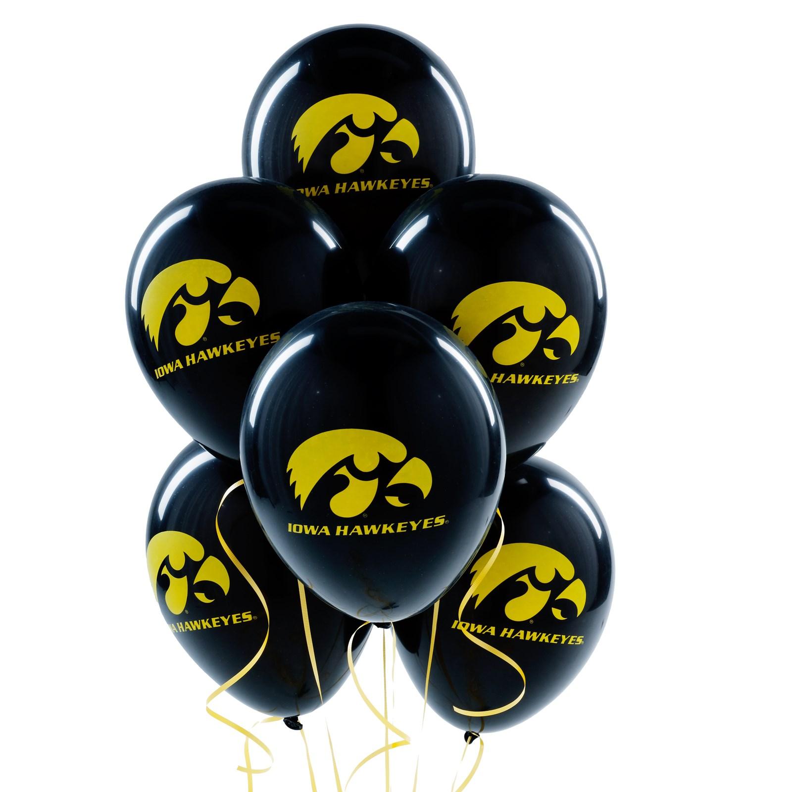 Image of Iowa Hawkeyes Latex Balloons