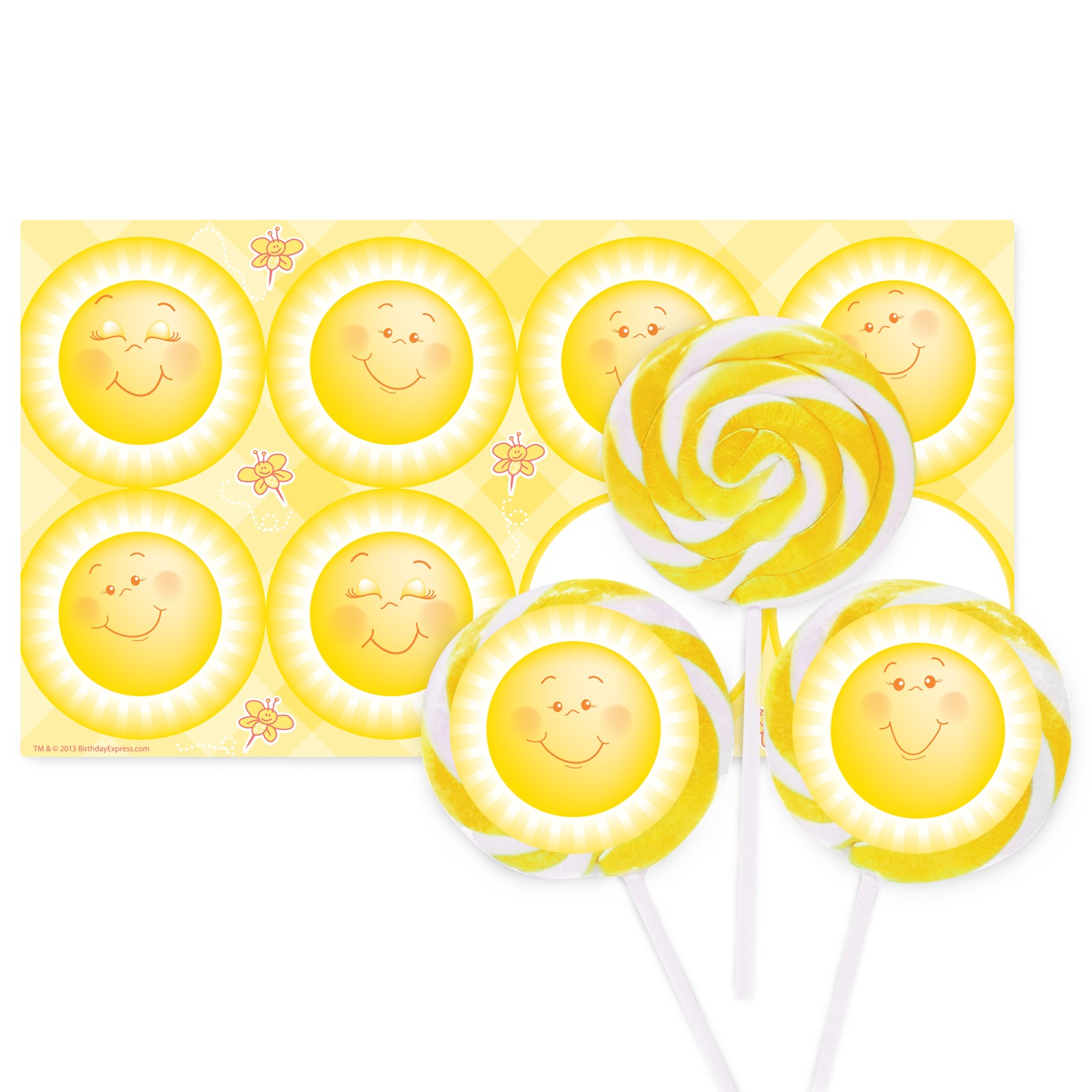 Image of Little Sunshine Party Large Lollipop Sticker Kit