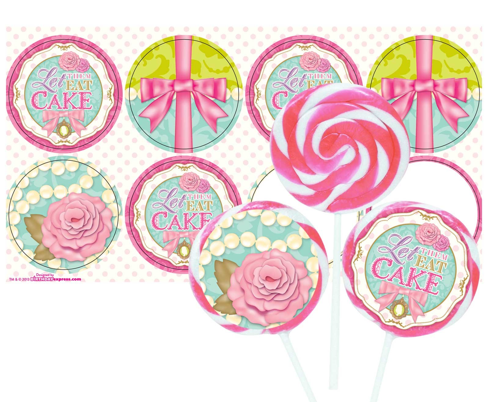 Let Them Eat Cake Deluxe Lollipop Favor Kit