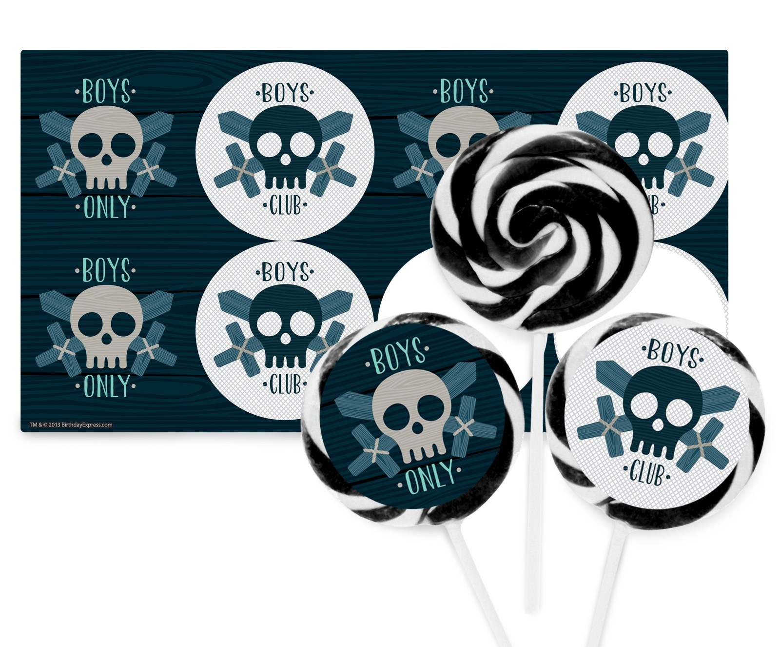 Boys Only Bash Deluxe Lollipop Favor Kit