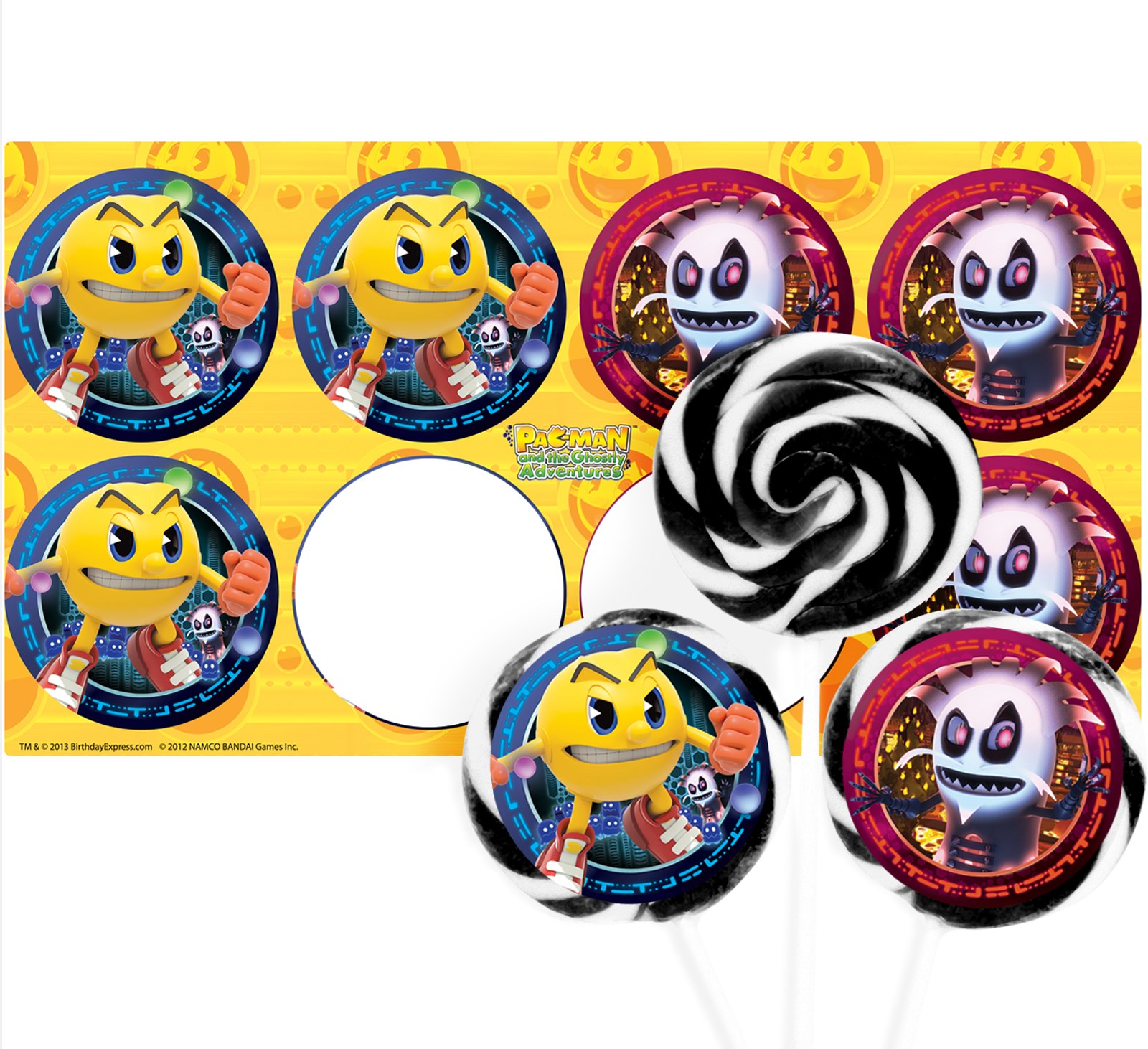 PAC-MAN and the Ghostly Adventures Deluxe Lollipop Favor Kit