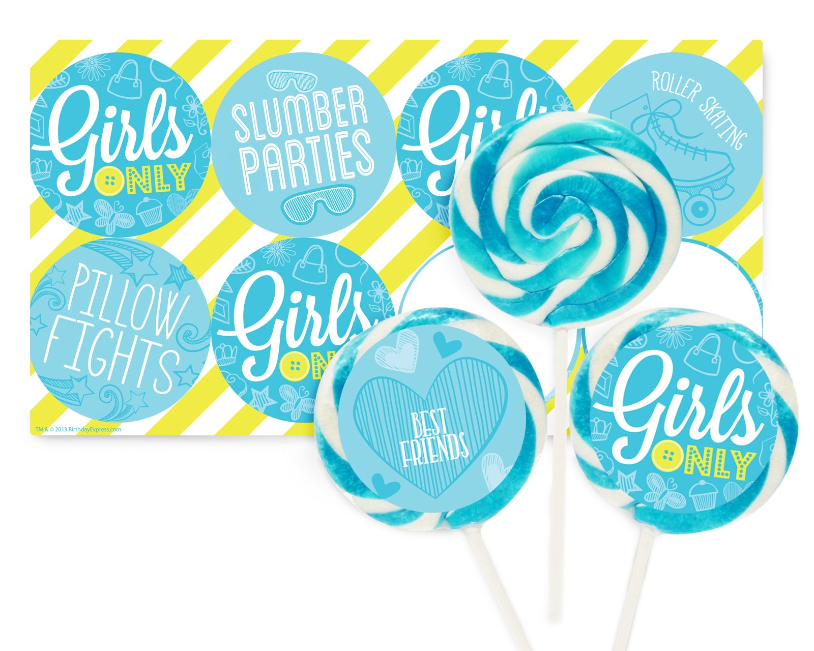 Girls Only Party Deluxe Lollipop Favor Kit