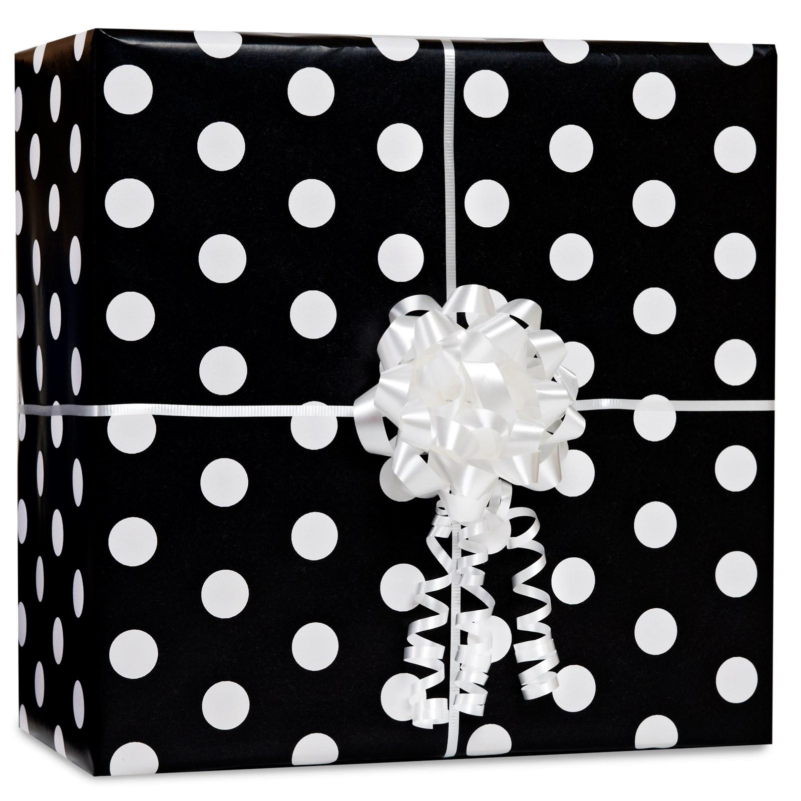 Image of Black Polka Dot Gift Wrap Kit