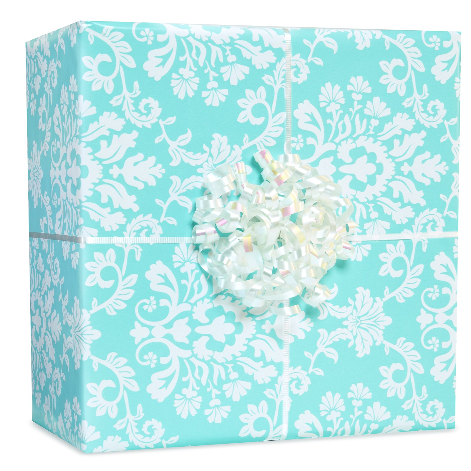 Image of Robin's Egg Blue Brocade Gift Wrap Kit
