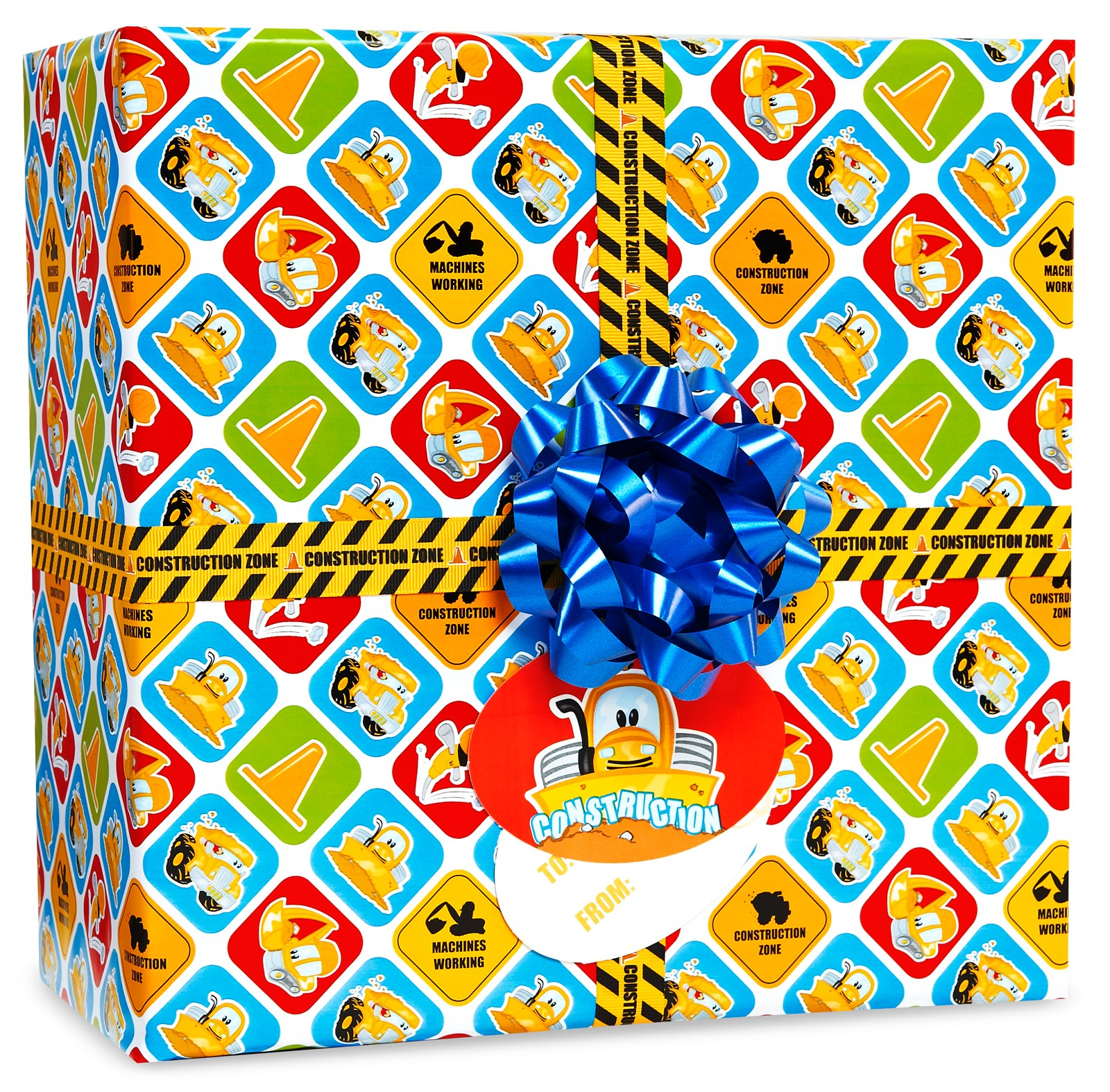 Image of Construction Pals Gift Wrap Kit
