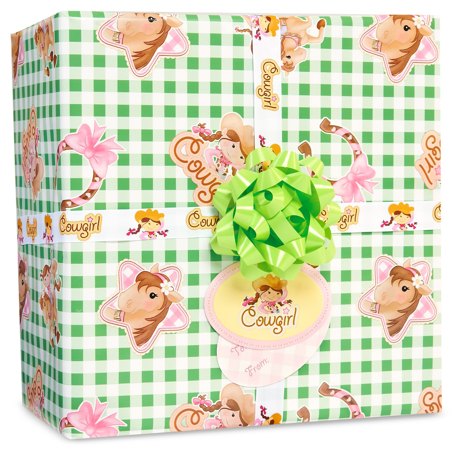 Image of Pink Cowgirl Gift Wrap Kit