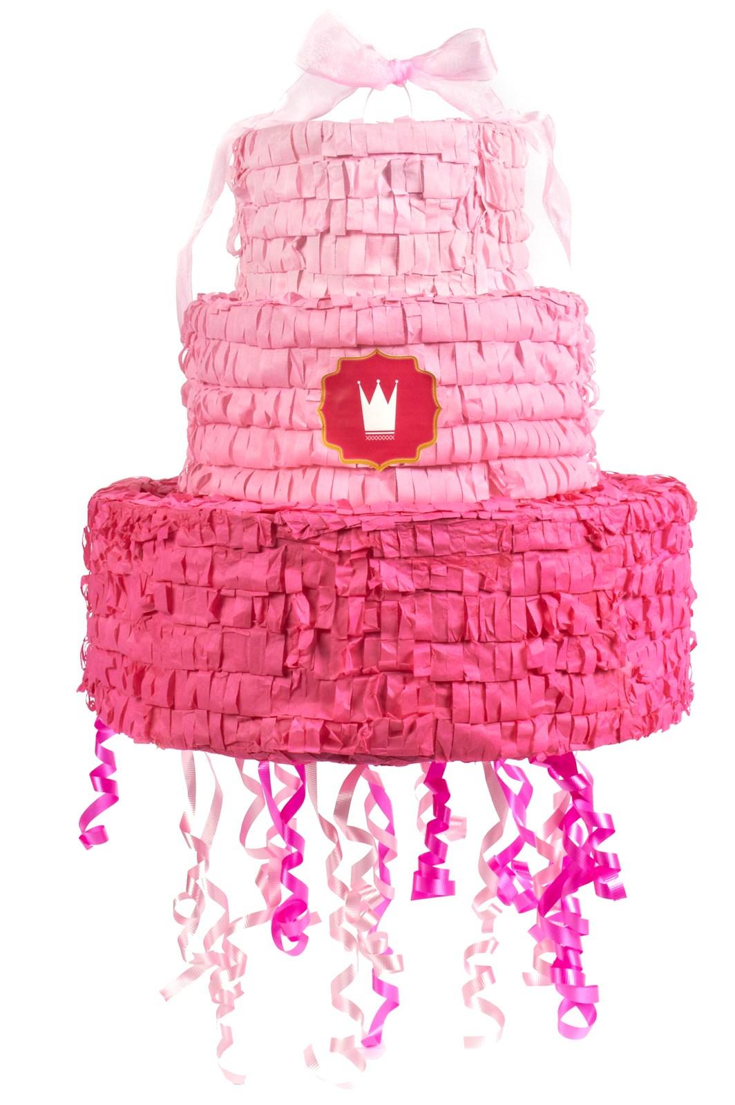Image of Pink Pull-String Pinata with Ribbon