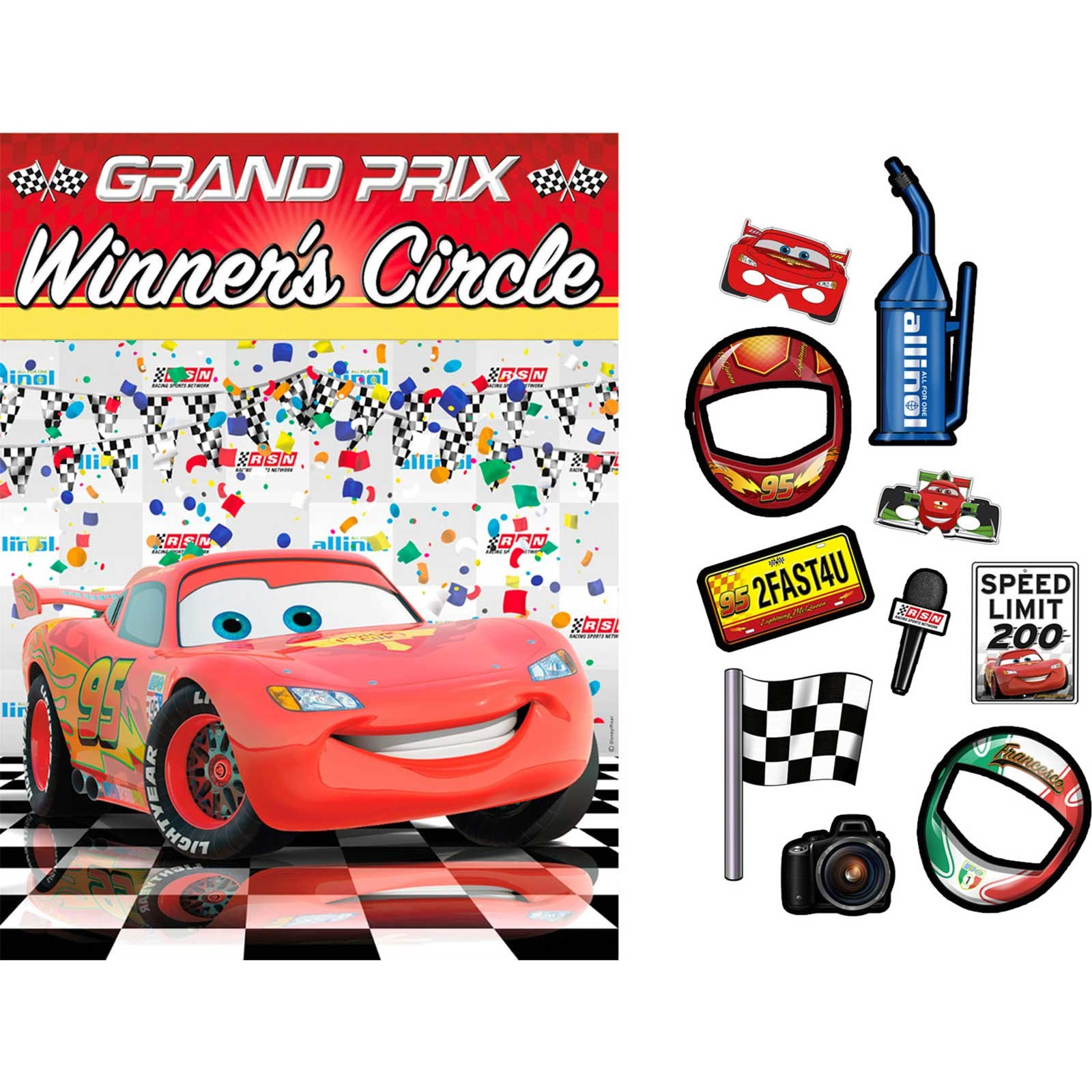 Image of Disney Cars Dream Party Backdrop Props Kit