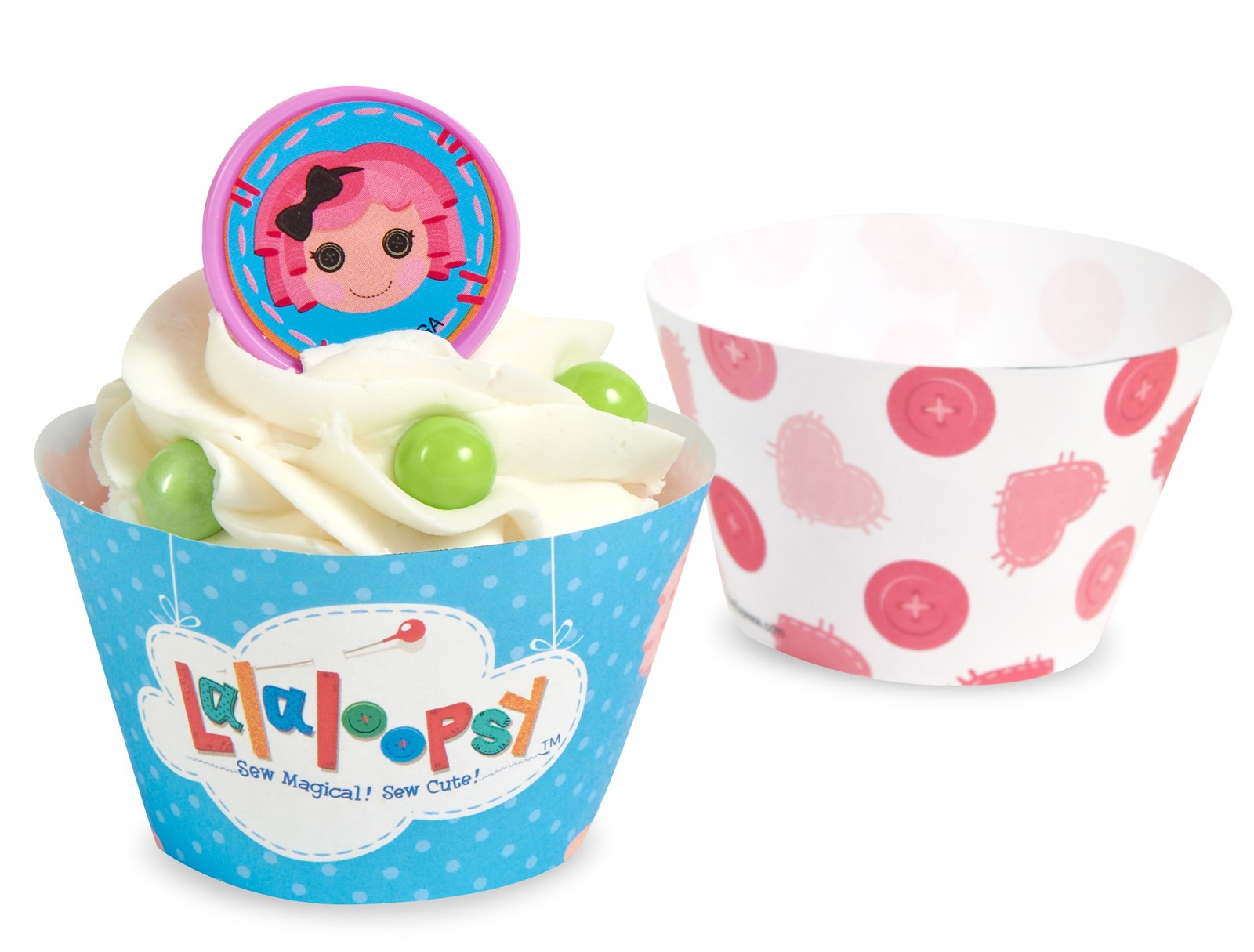 Image of Lalaloopsy Reversible Cupcake Wrappers