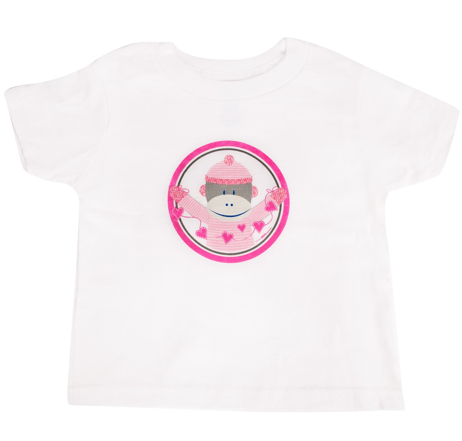 Image of Sock Monkey Pink T-Shirt 2T