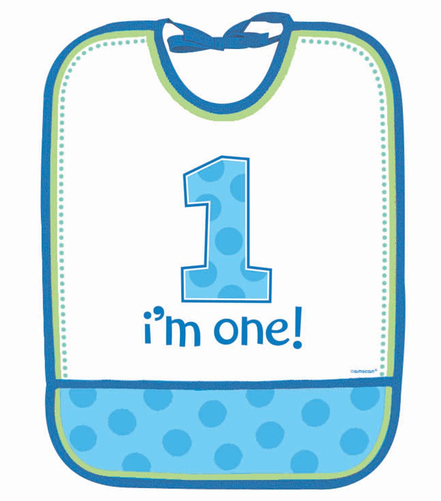 Image of 1st Birthday Bib - Boy