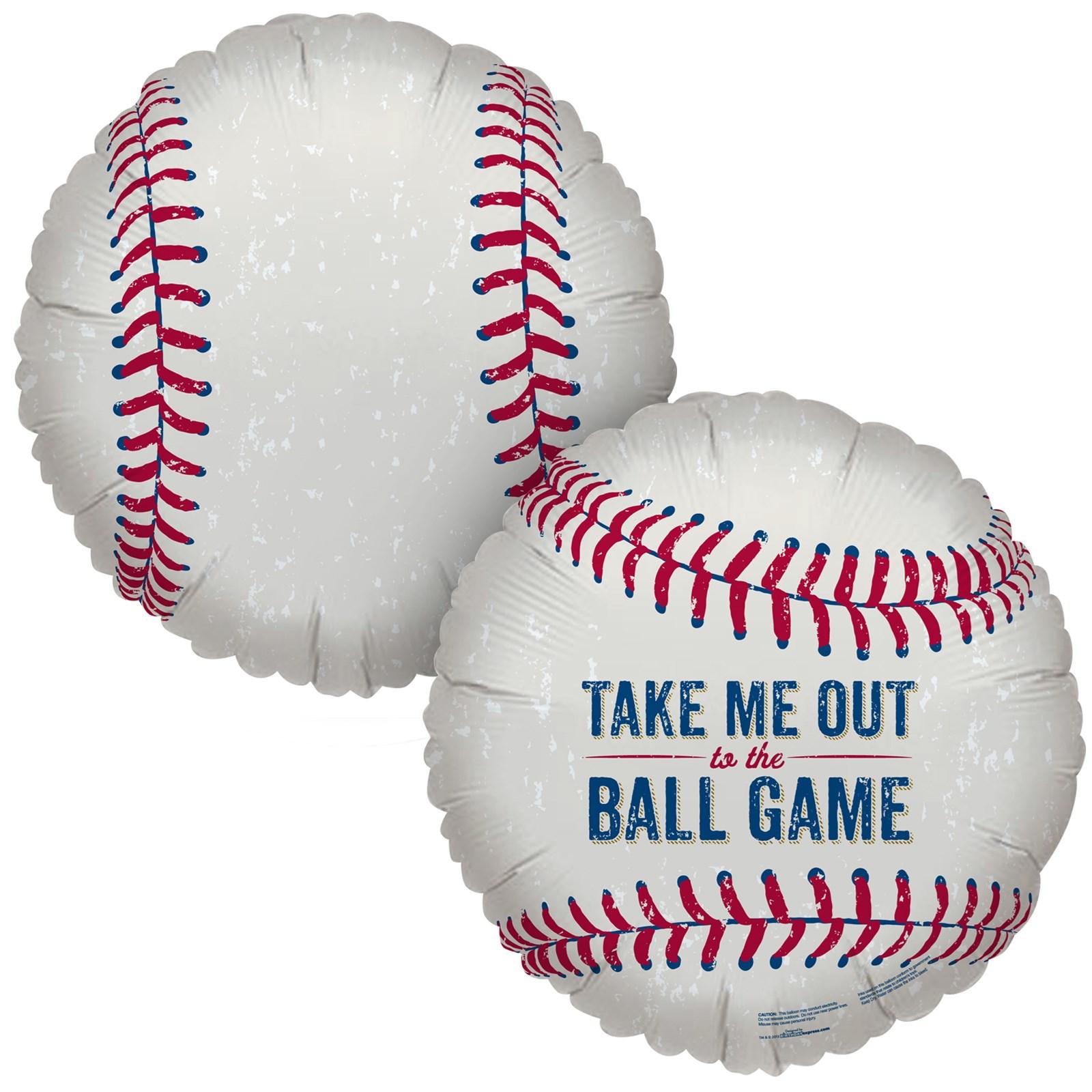 Image of Baseball Time Foil Balloon