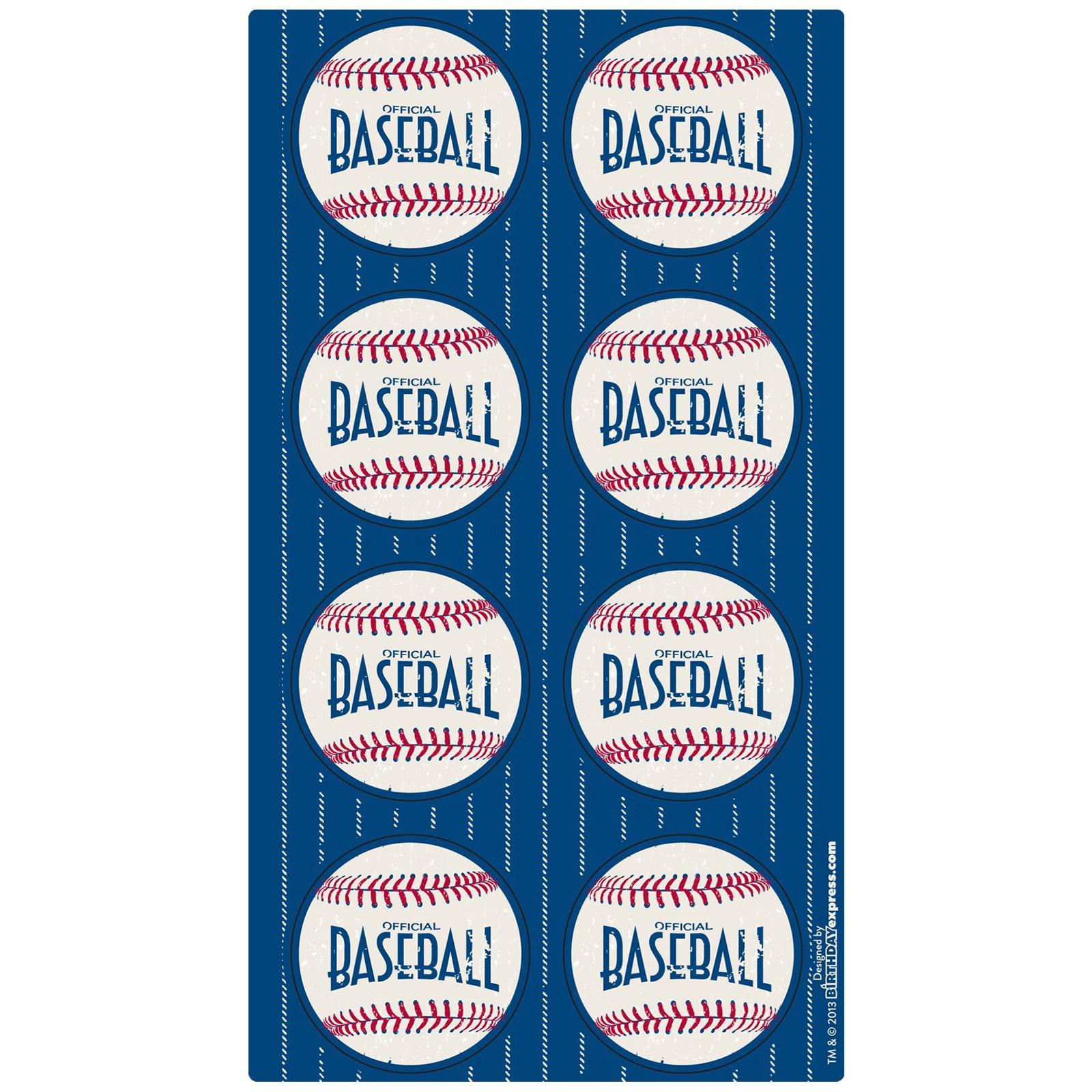 Image of Baseball Time Small Lollipop Sticker Sheet
