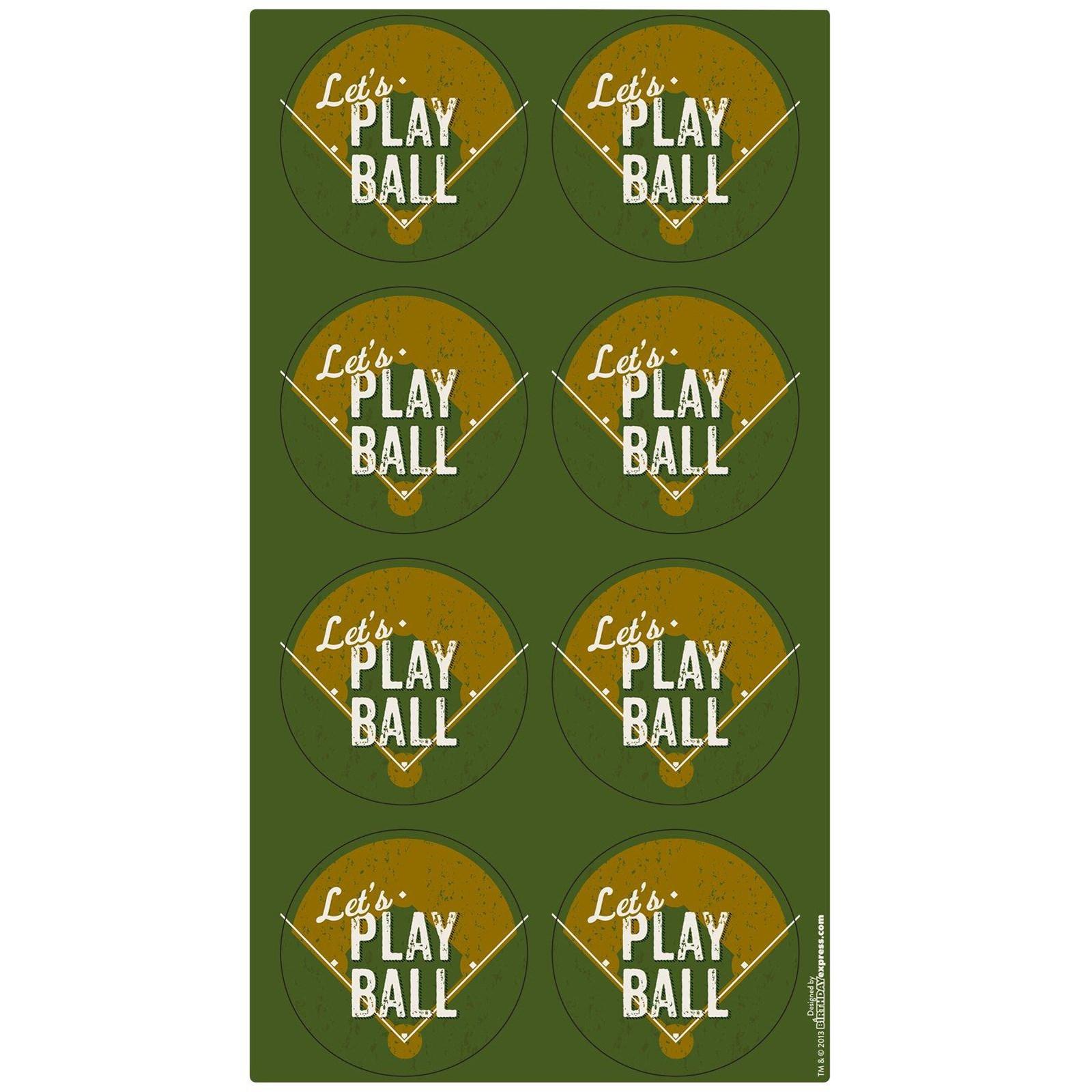 Image of Baseball Time Large Lollipop Sticker Sheet
