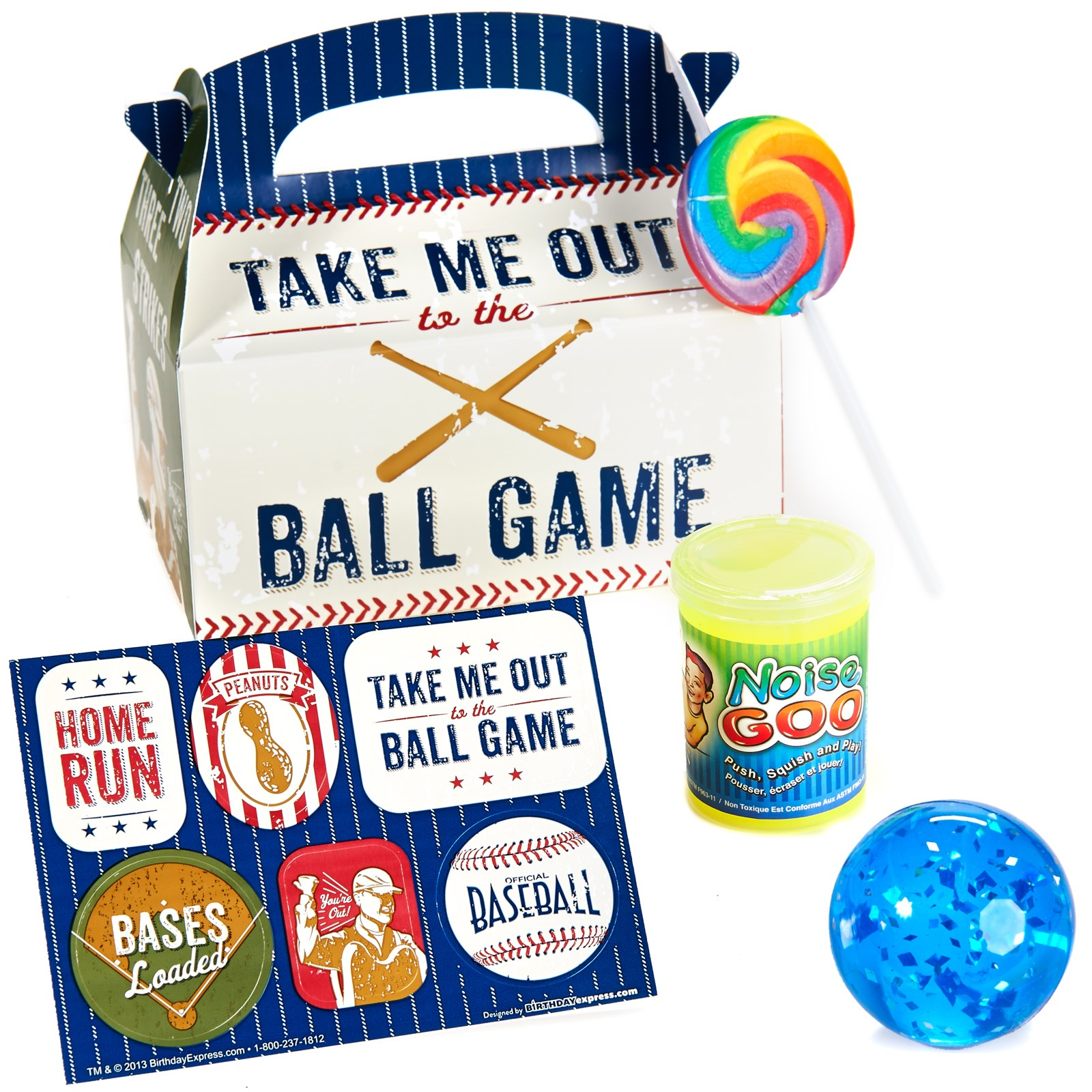 Image of Baseball Time Party Favor Box