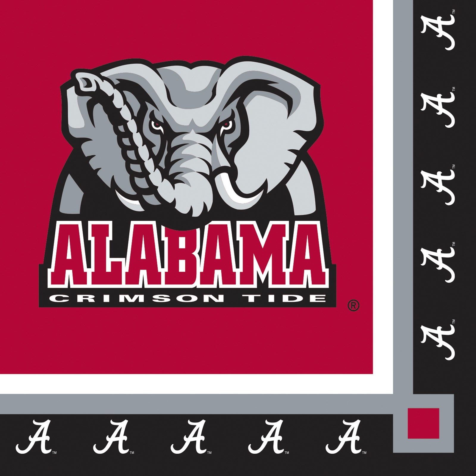 Image of Alabama Crimson Tide Beverage Napkins