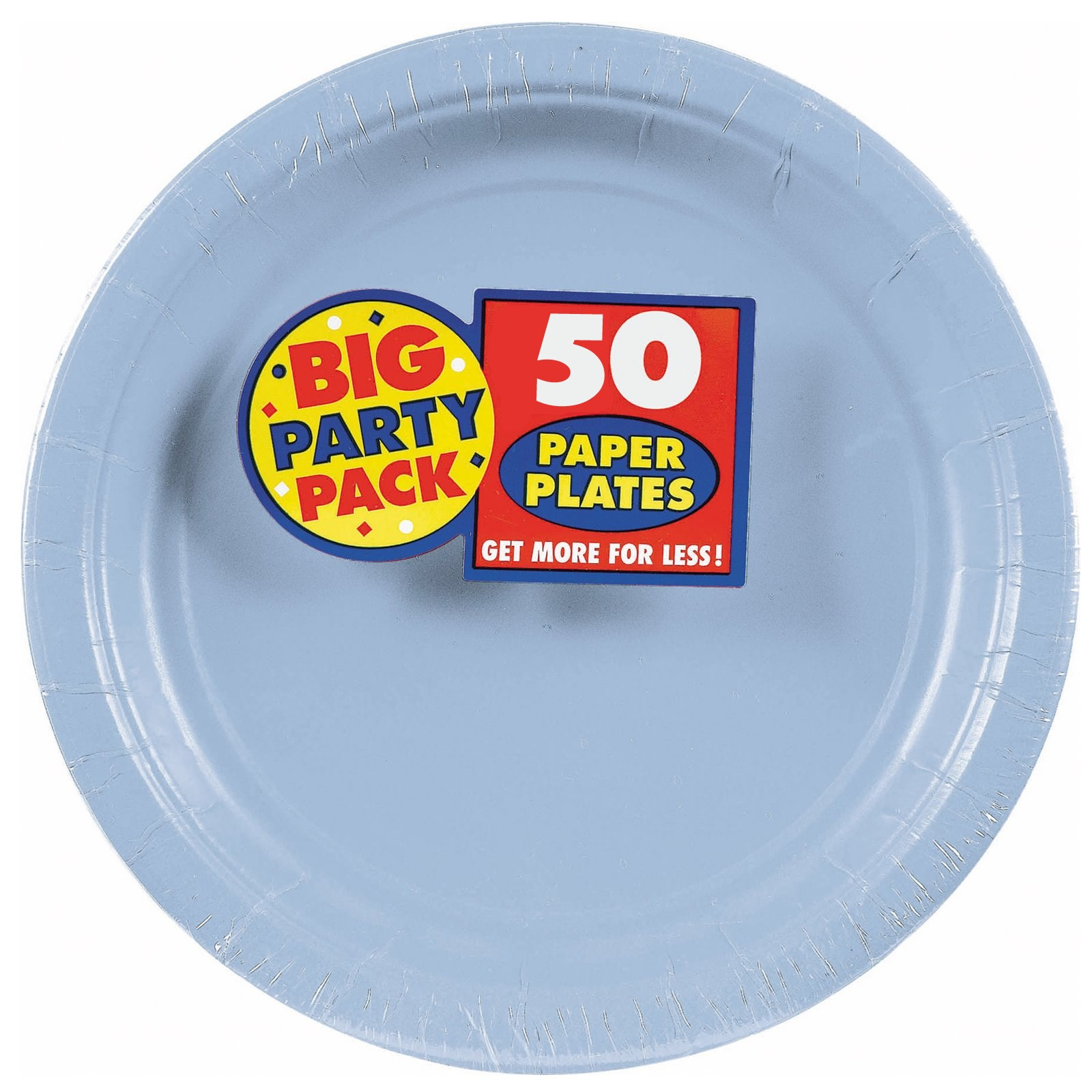Pastel Blue Big Party Pack Dinner Plates kids birthday partyware