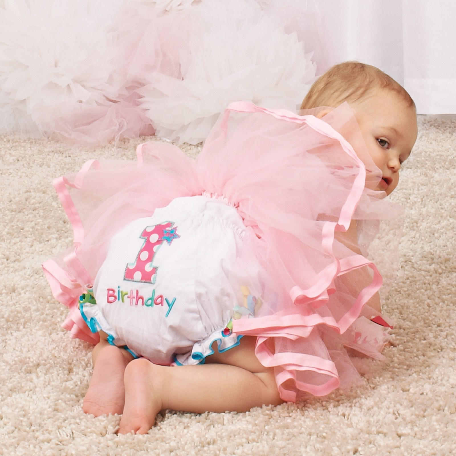 Image of First Birthday Bloomer Diaper Cover 12-18 month