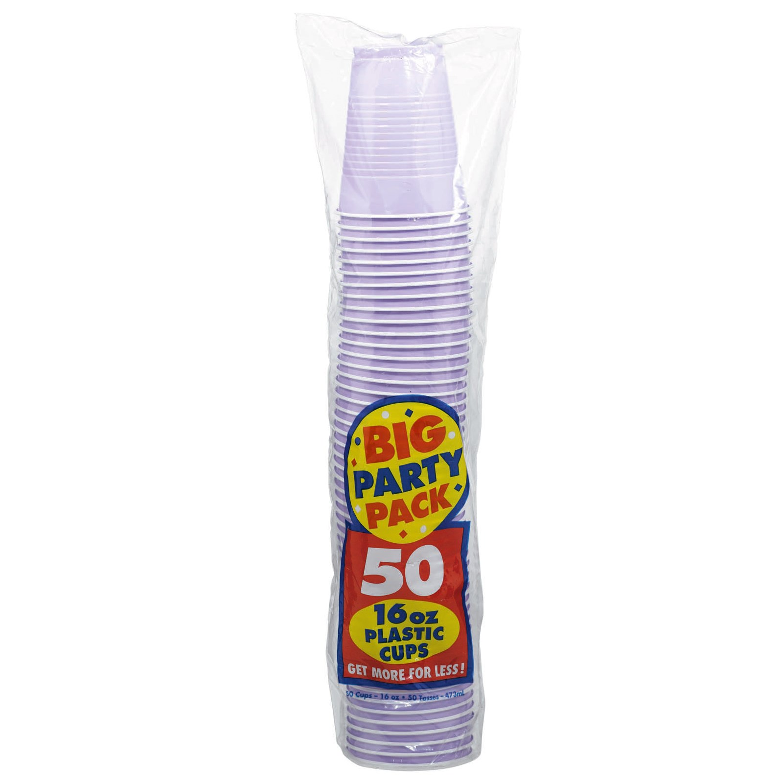 Lavender Big Party Pack 16 oz. Plastic Cups kids birthday partyware